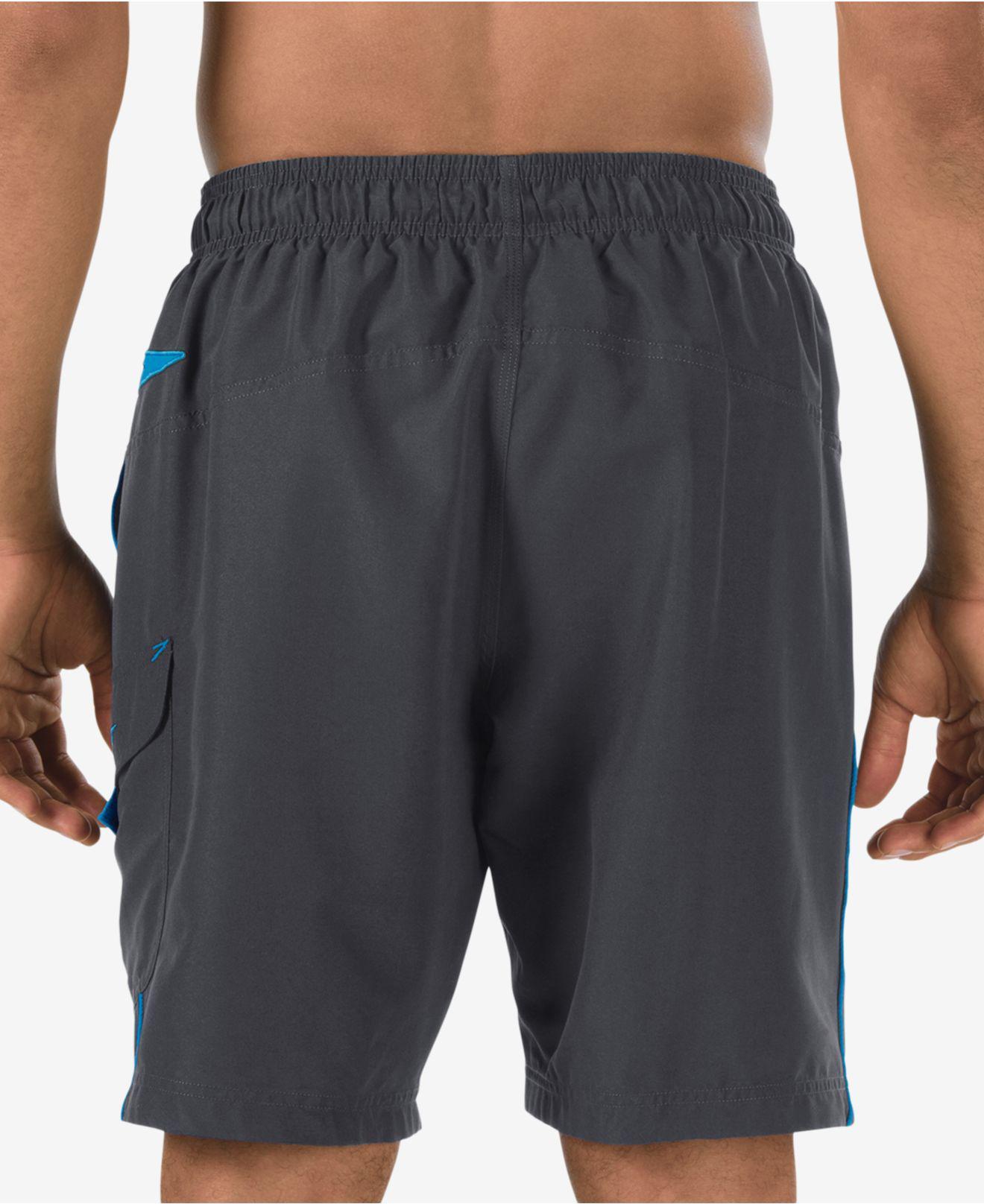 1333d56220 Speedo - Gray Performance Marina 9'' Swim Trunks for Men - Lyst. View  fullscreen