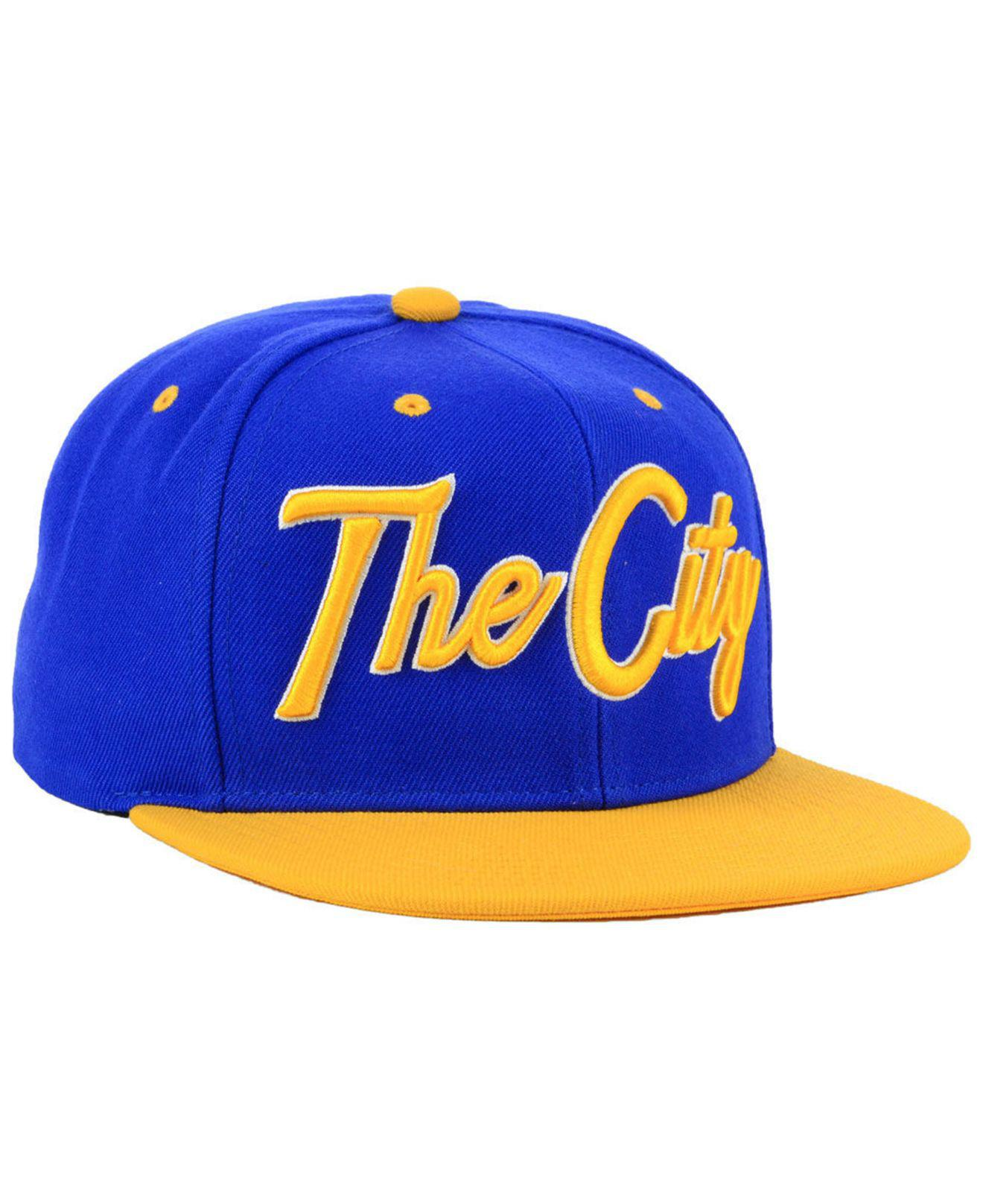 5b177602f28 Lyst - Mitchell   Ness Golden State Warriors Town Snapback Cap in ...