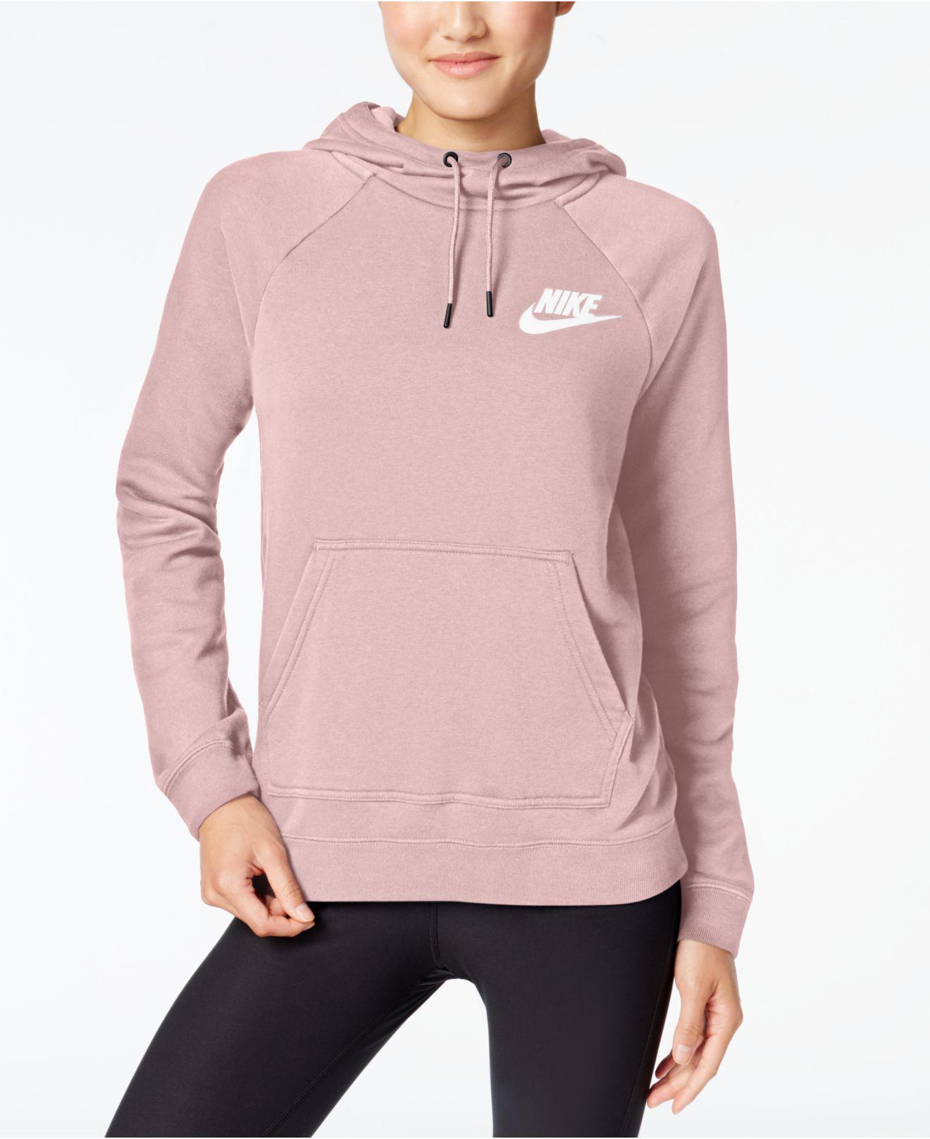 Predownload: Nike Sportswear Fleece Rally Hoodie In Pearl Pink Pink Lyst [ 1616 x 1320 Pixel ]