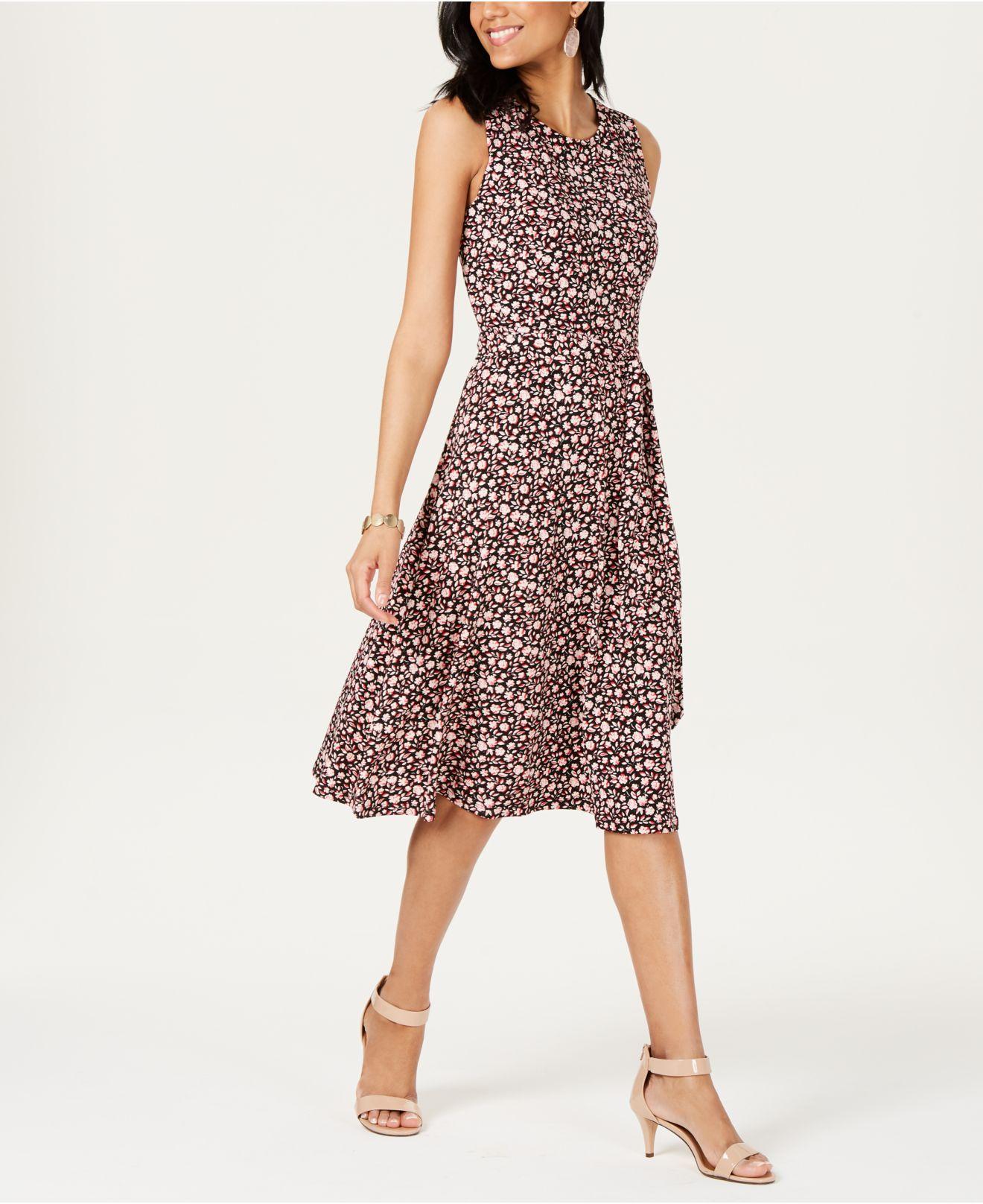 3f44f12fed Lyst - Charter Club Printed Midi Dress