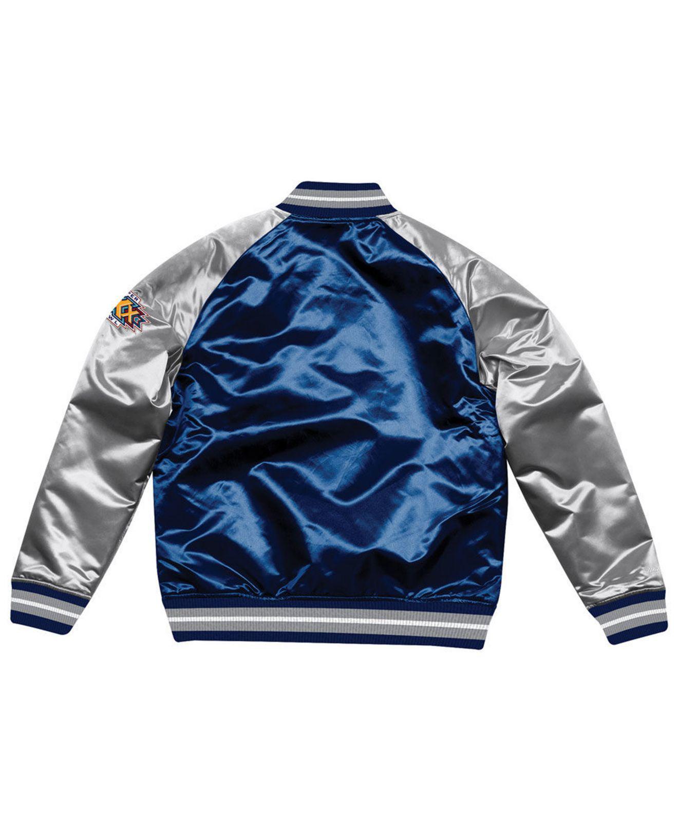 detailed look 19dd1 8a167 Men's Blue Dallas Cowboys Tough Season Satin Jacket