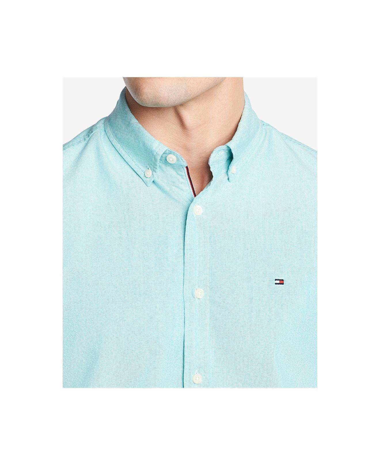 3ada2f4e Lyst - Tommy Hilfiger Custom Fit New England Solid Oxford Shirt ...