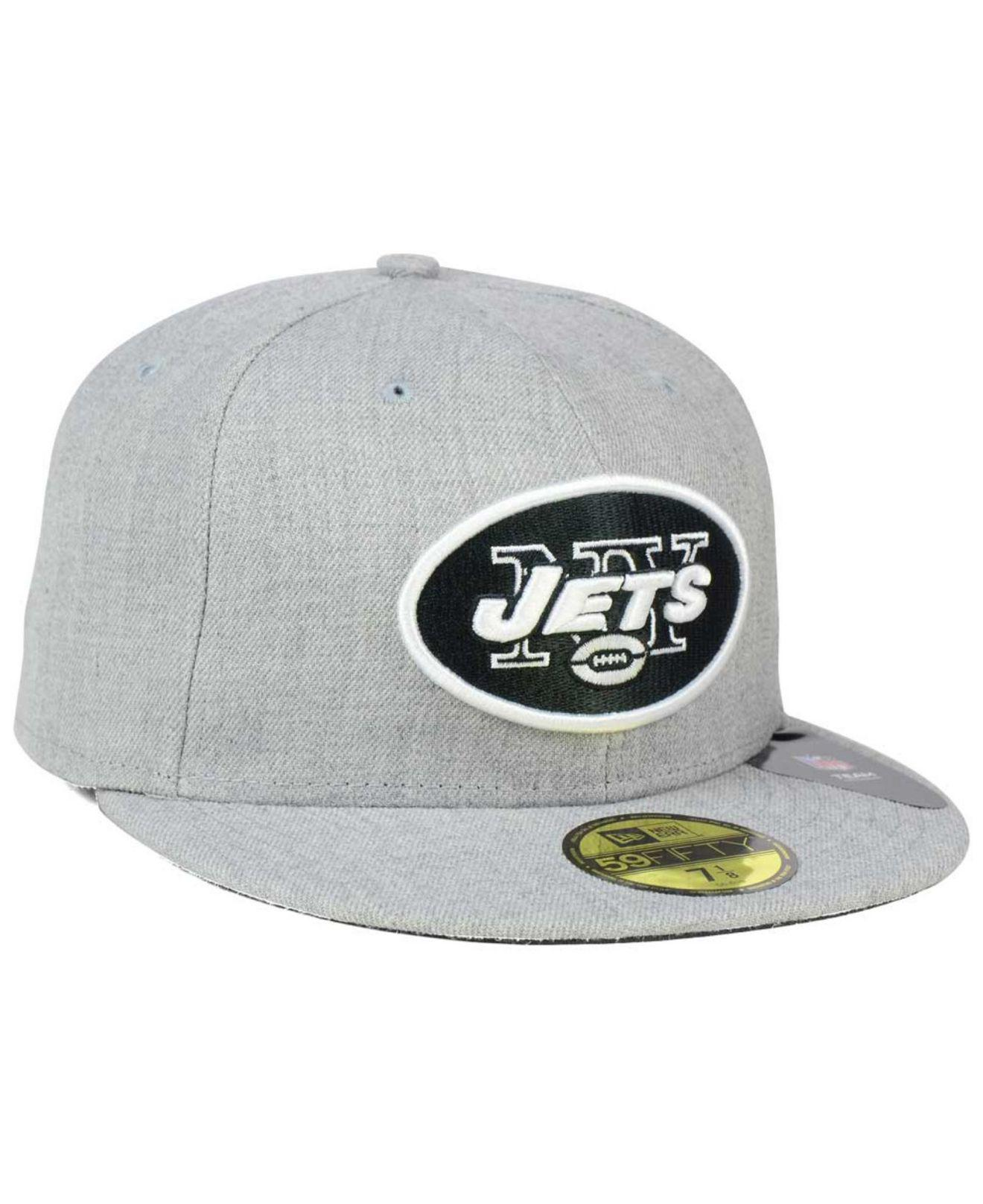 best service 268fb e68ed ... coupon code lyst ktz new york jets heather black white 59fifty cap in  gray for men