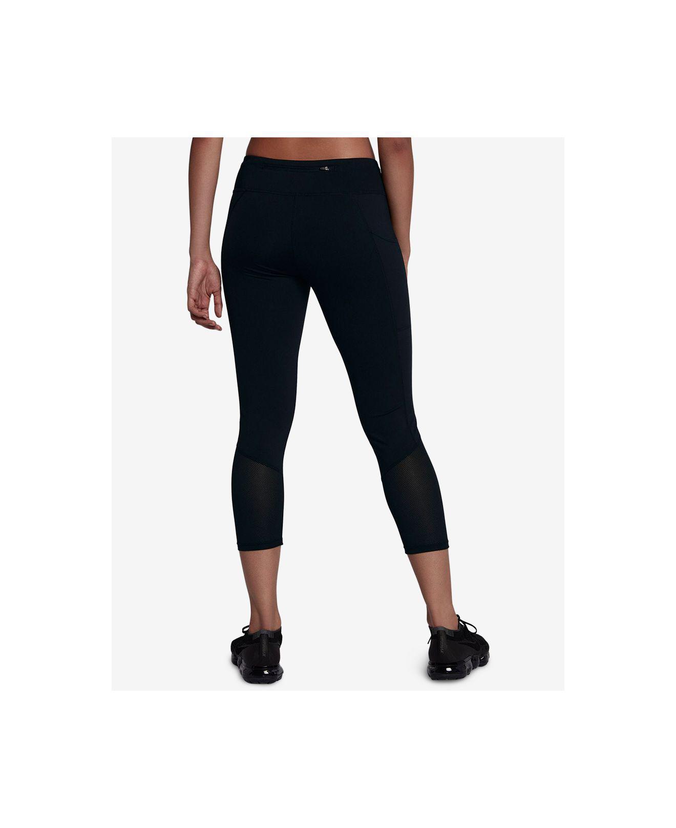 info for 529e5 7183b Lyst - Nike Racer Dri-fit Cropped Running Leggings in Black