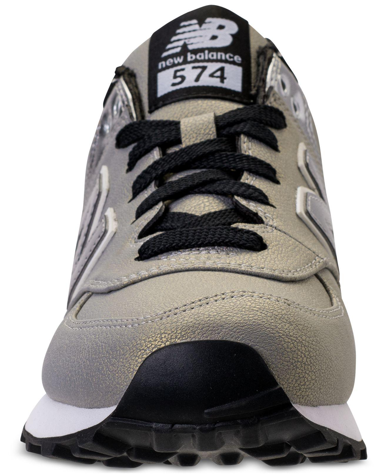 bfe5a31bf9c Lyst - New Balance Women s 574 Seasonal Shimmer Casual Sneakers From ...