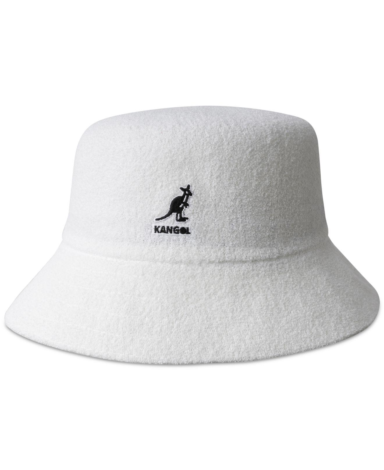 Lyst - Kangol Bermuda Terry Bouclé Bucket Hat in White for Men 84d990bdf6b