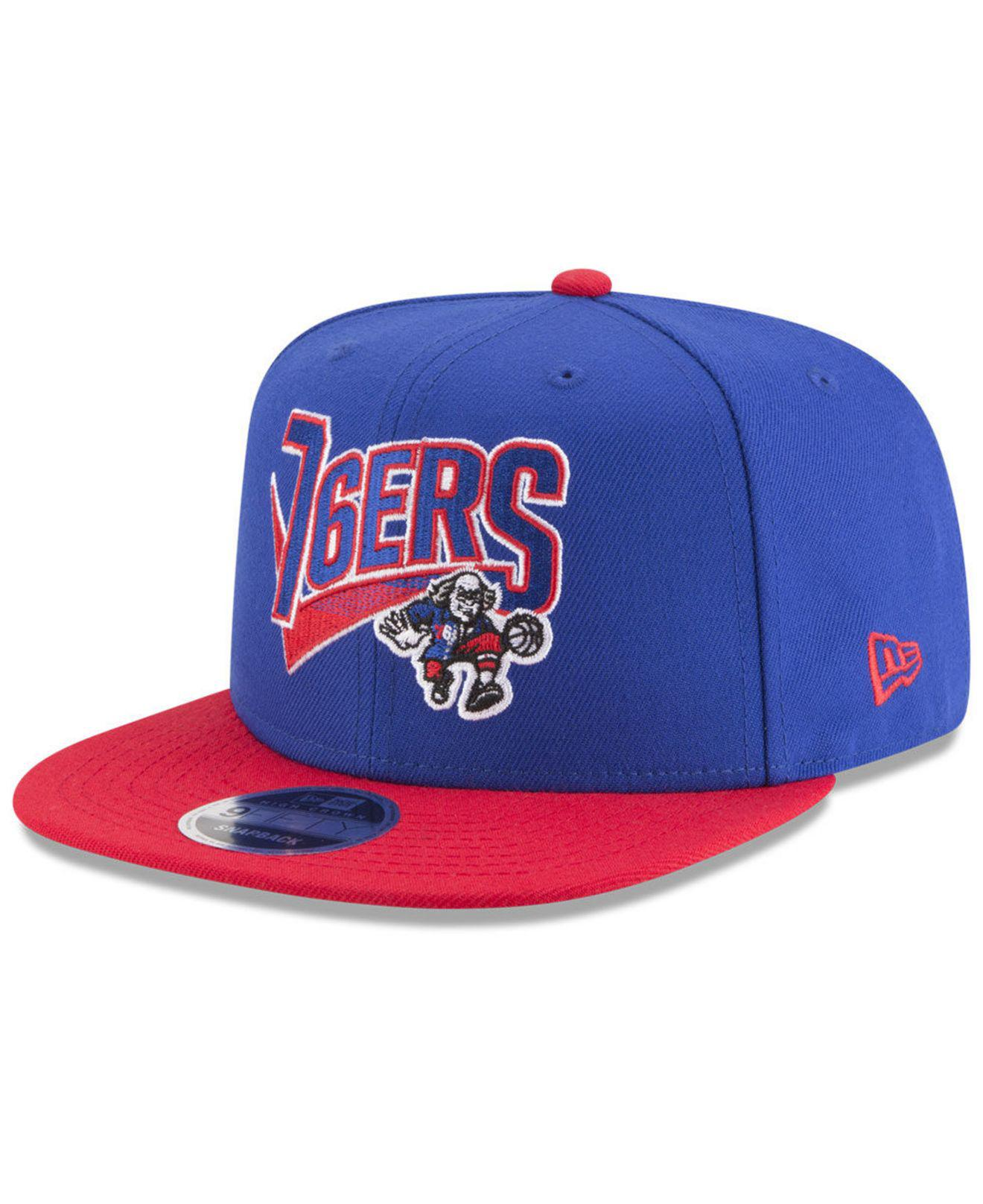 best cheap 093f0 cd4f0 ... coupon code ktz. mens blue philadelphia 76ers retro tail 9fifty  snapback cap a0daf 4c30d