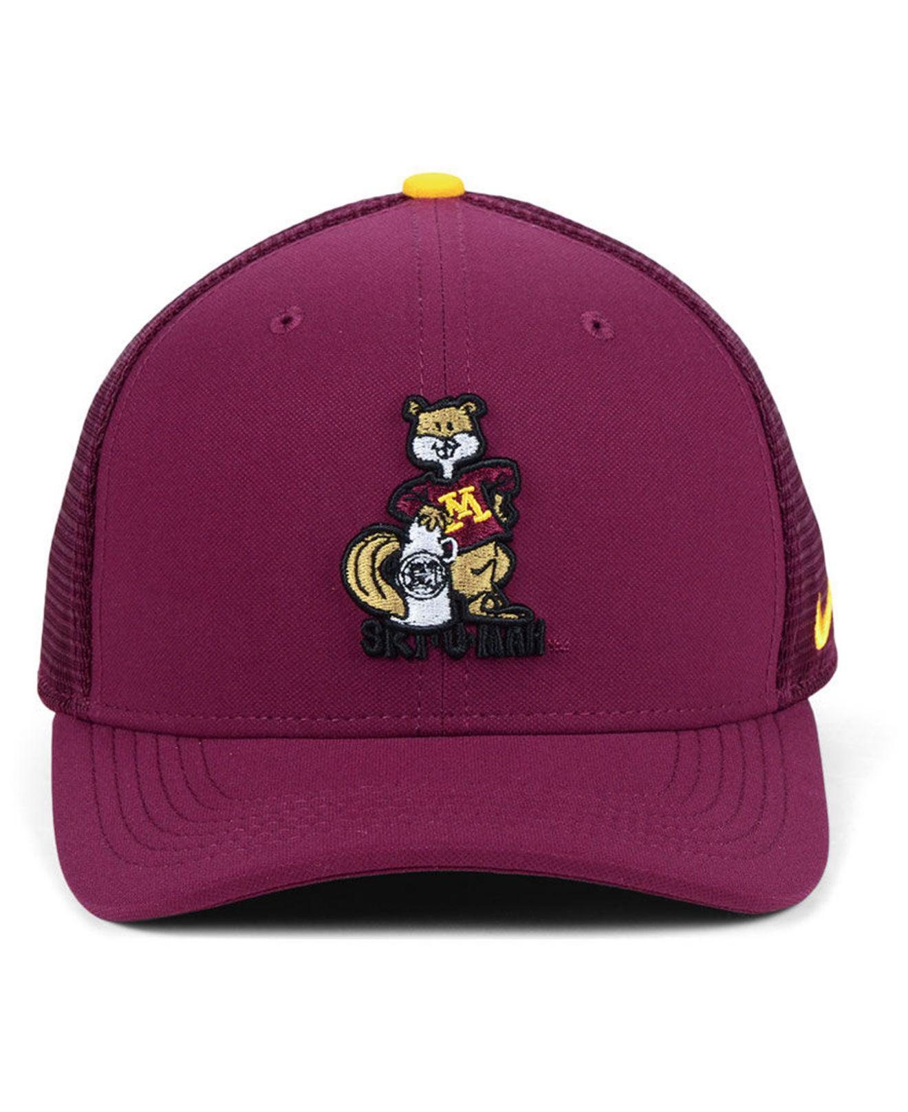 911d1e94 hot lyst nike minnesota golden gophers col aro swooshflex cap in purple for  men 47014 bf882
