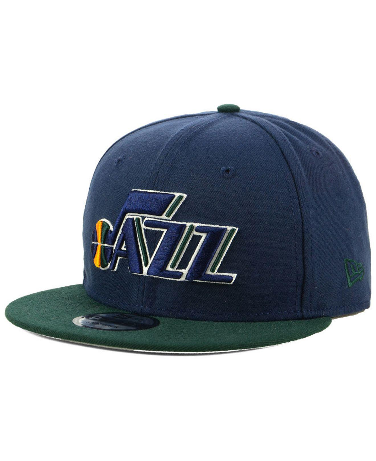 d10338d1fa8 Lyst - Ktz Utah Jazz Basic 2 Tone 9fifty Snapback Cap in Blue for Men