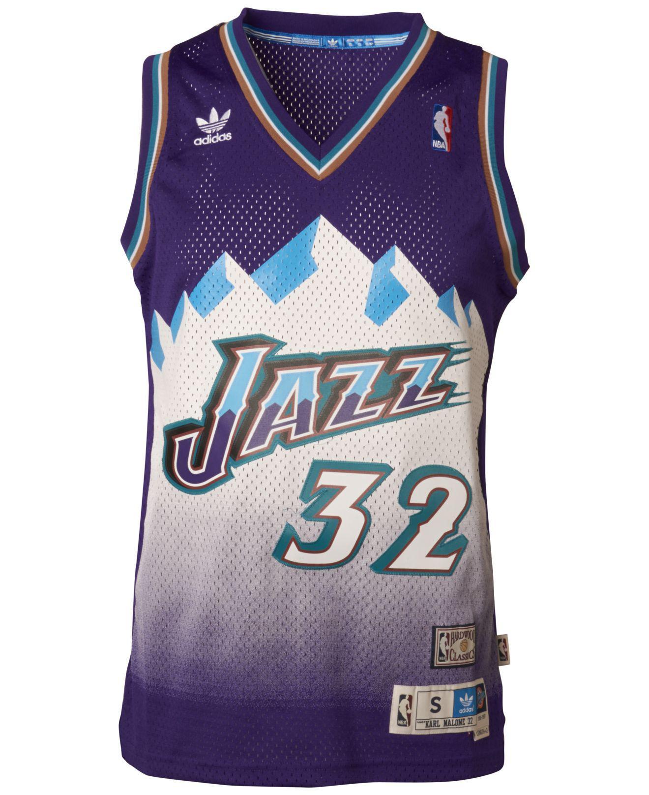 9273f5bdc8f Adidas - Purple Men s Karl Malone Utah Jazz Swingman Jersey for Men - Lyst.  View fullscreen