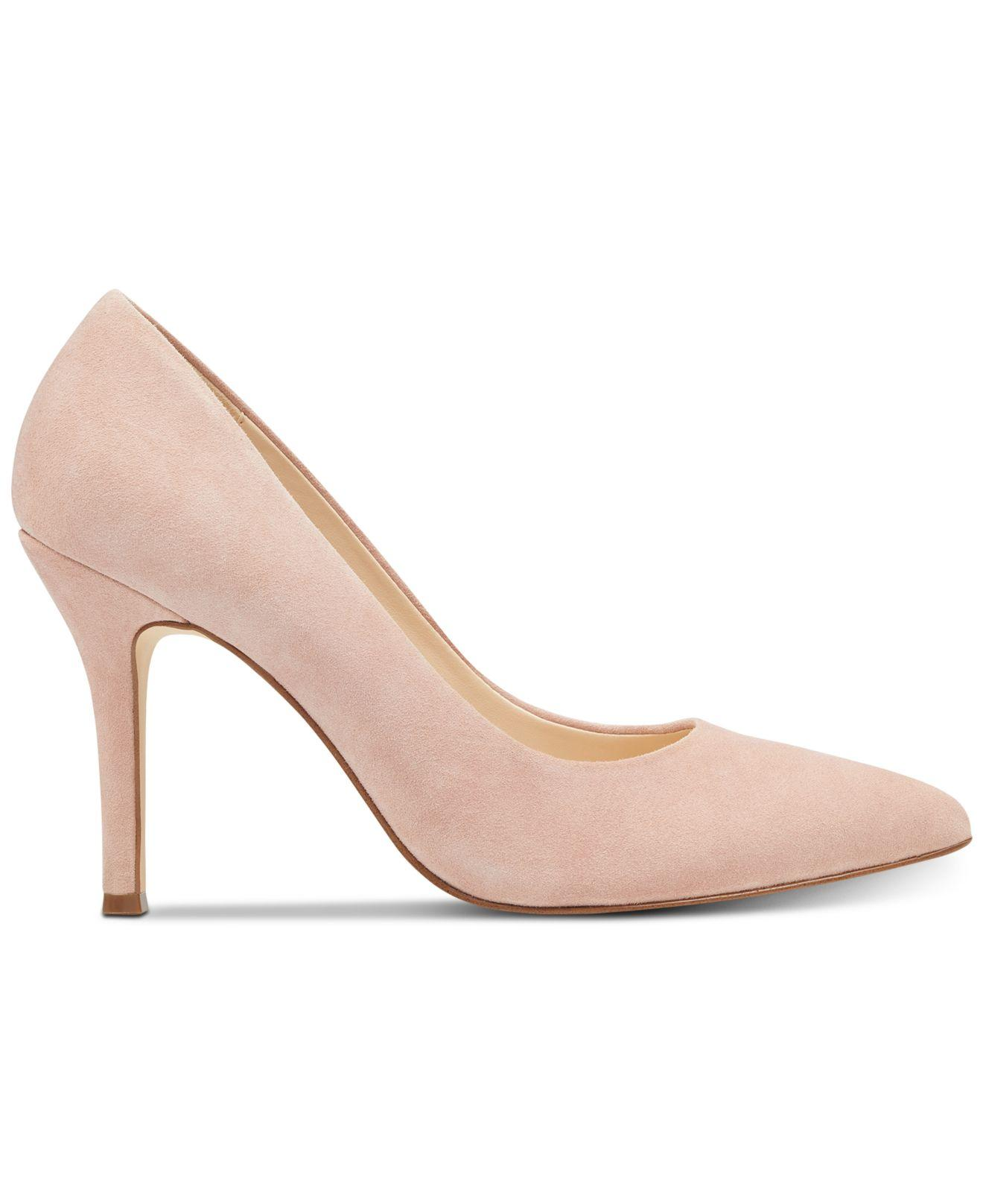 4e84d1936bcf Lyst - Nine West Flax Pointed Toe Pumps in Pink