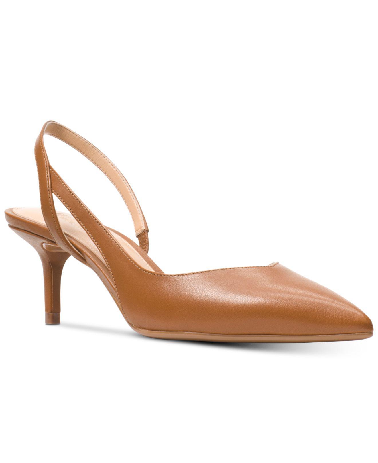 20298f40c87 Michael Kors Michael Eliza Flex Kitten-heel Pumps in Brown - Lyst