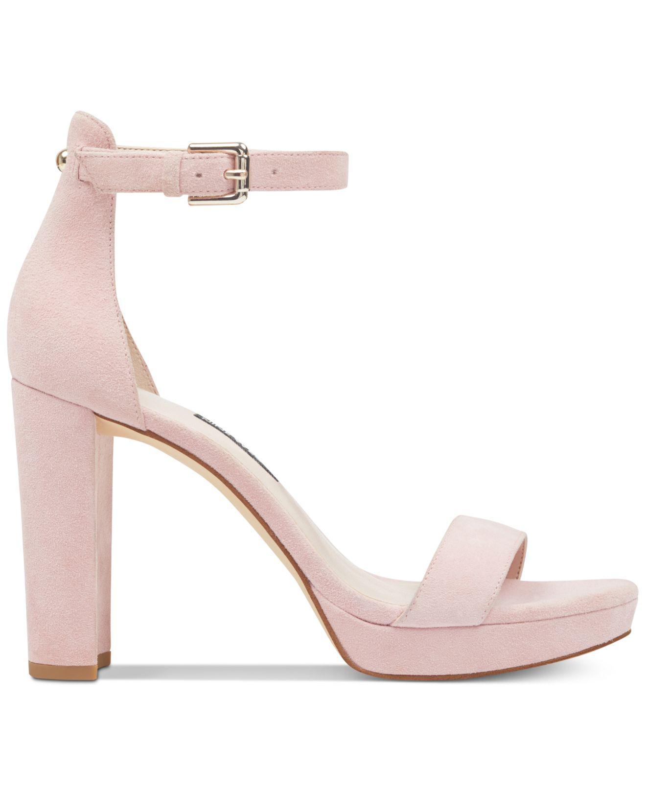 a38707887247 Lyst - Nine West Dempsey Platform Sandals in Pink