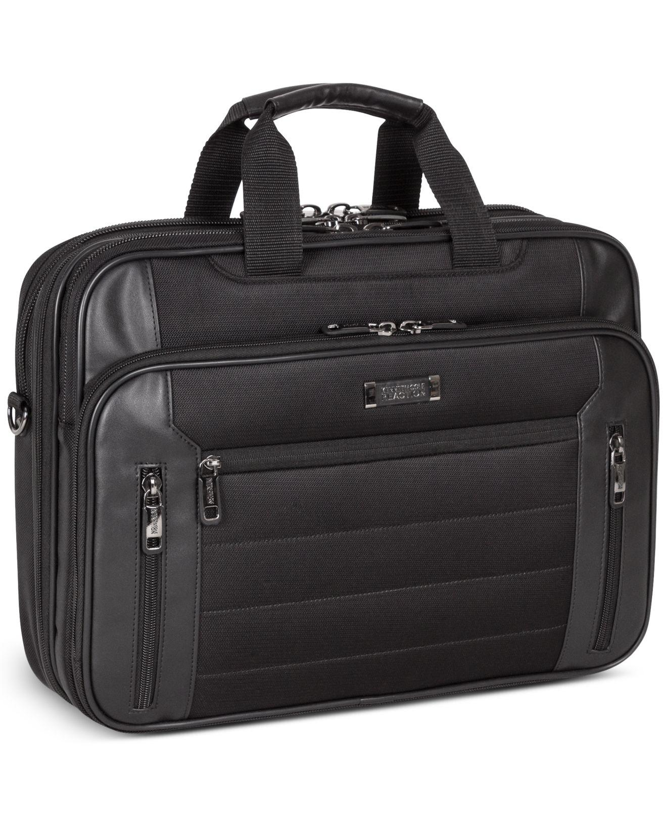 Lyst Kenneth Cole Reaction Laptop Case Double Gusset Top Zip Checkpoint Friendly Computer In Black For Men Save 50 0