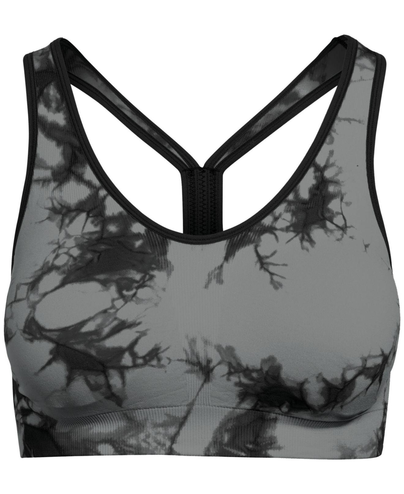 f64707f400 Lyst - Champion Tie-dyed Racerback Low-impact Sports Bra in Black
