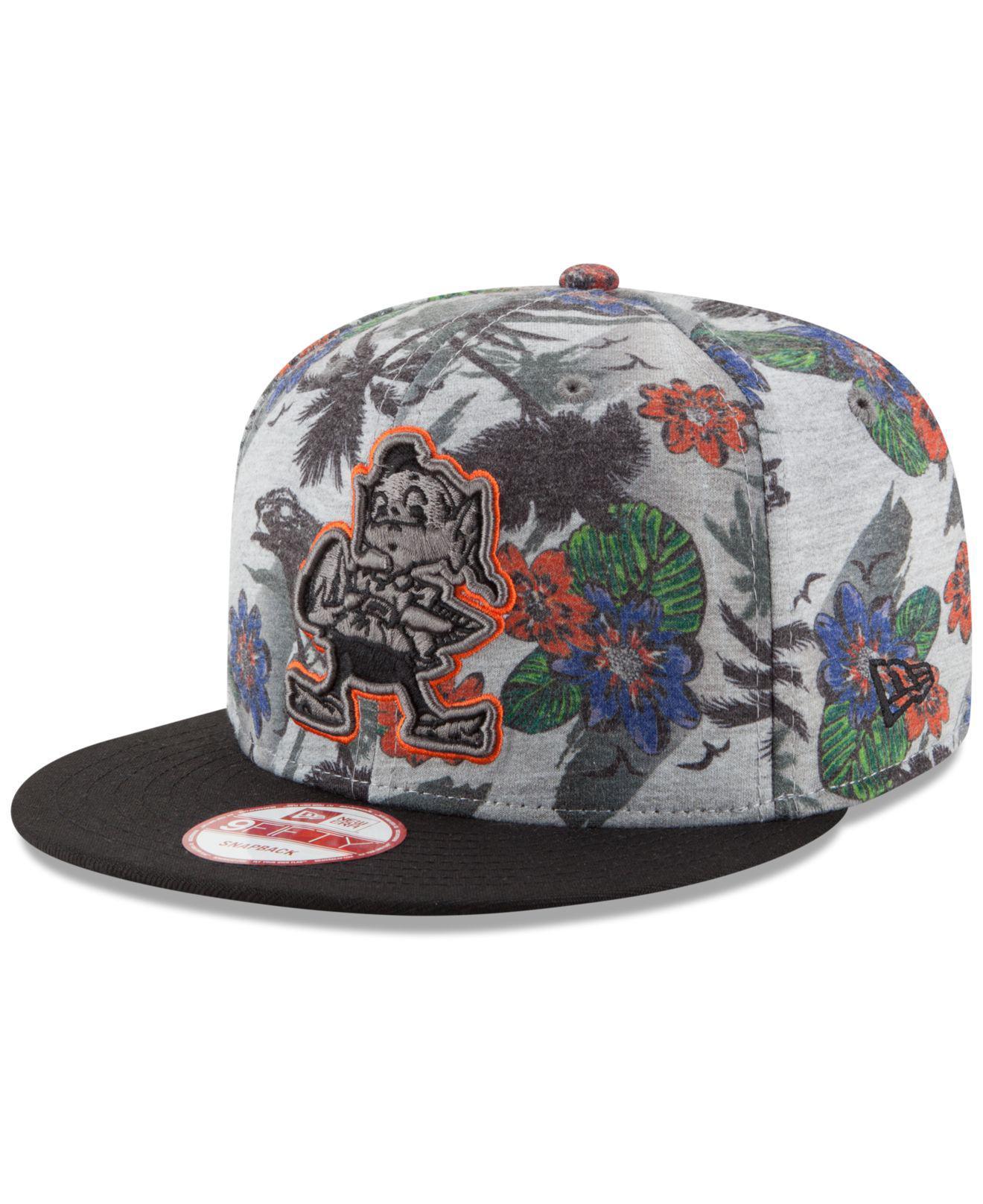 Lyst - KTZ Cleveland Browns Cool Breeze Trop 9fifty Snapback Cap in ... 56909b1cb