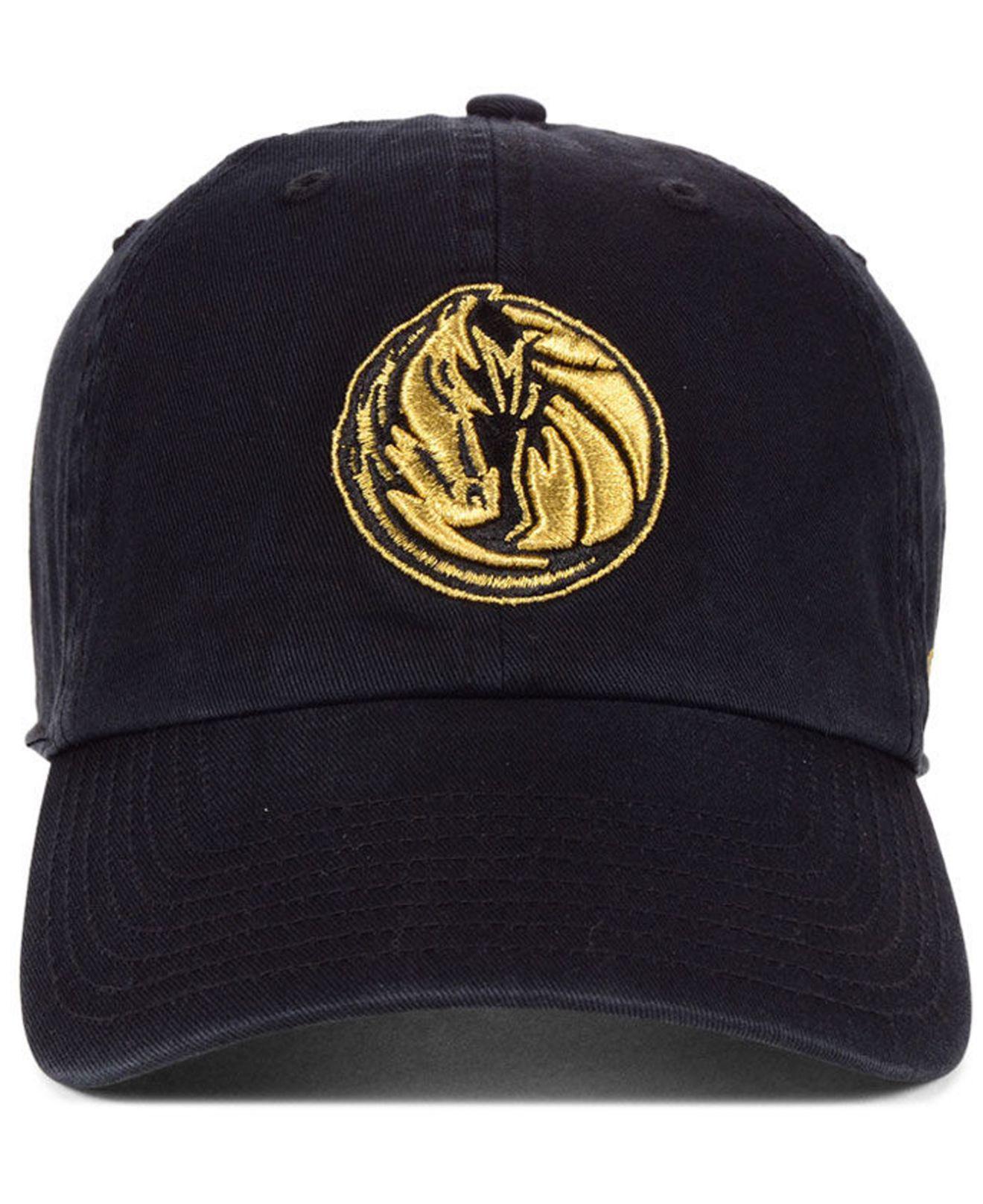 best service 02bef b7af4 ... hot lyst 47 brand dallas mavericks met gold clean up cap for men a5389  1b688