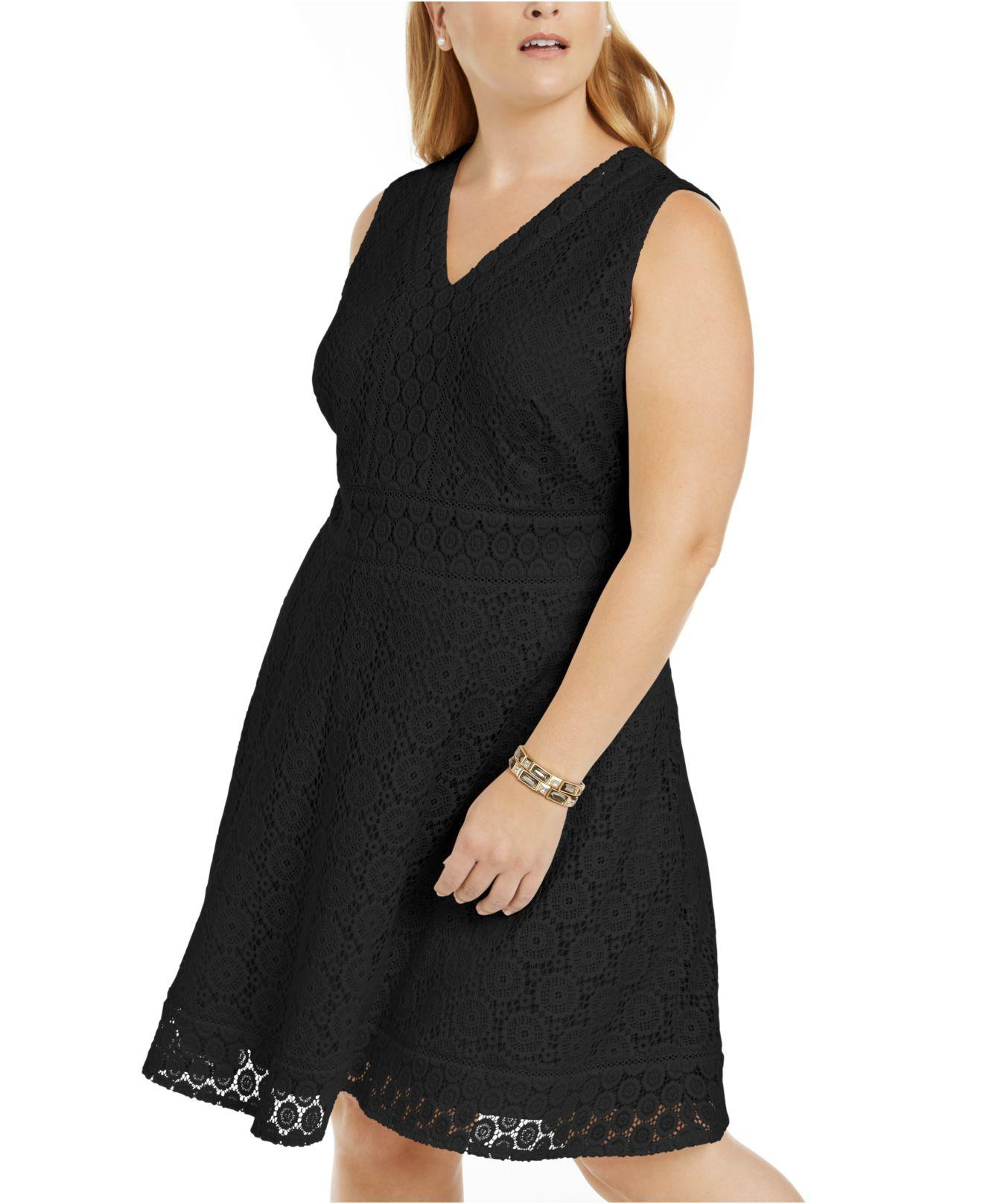 Plus Size Lace Fit & Flare Dress, Created For Macy\'s