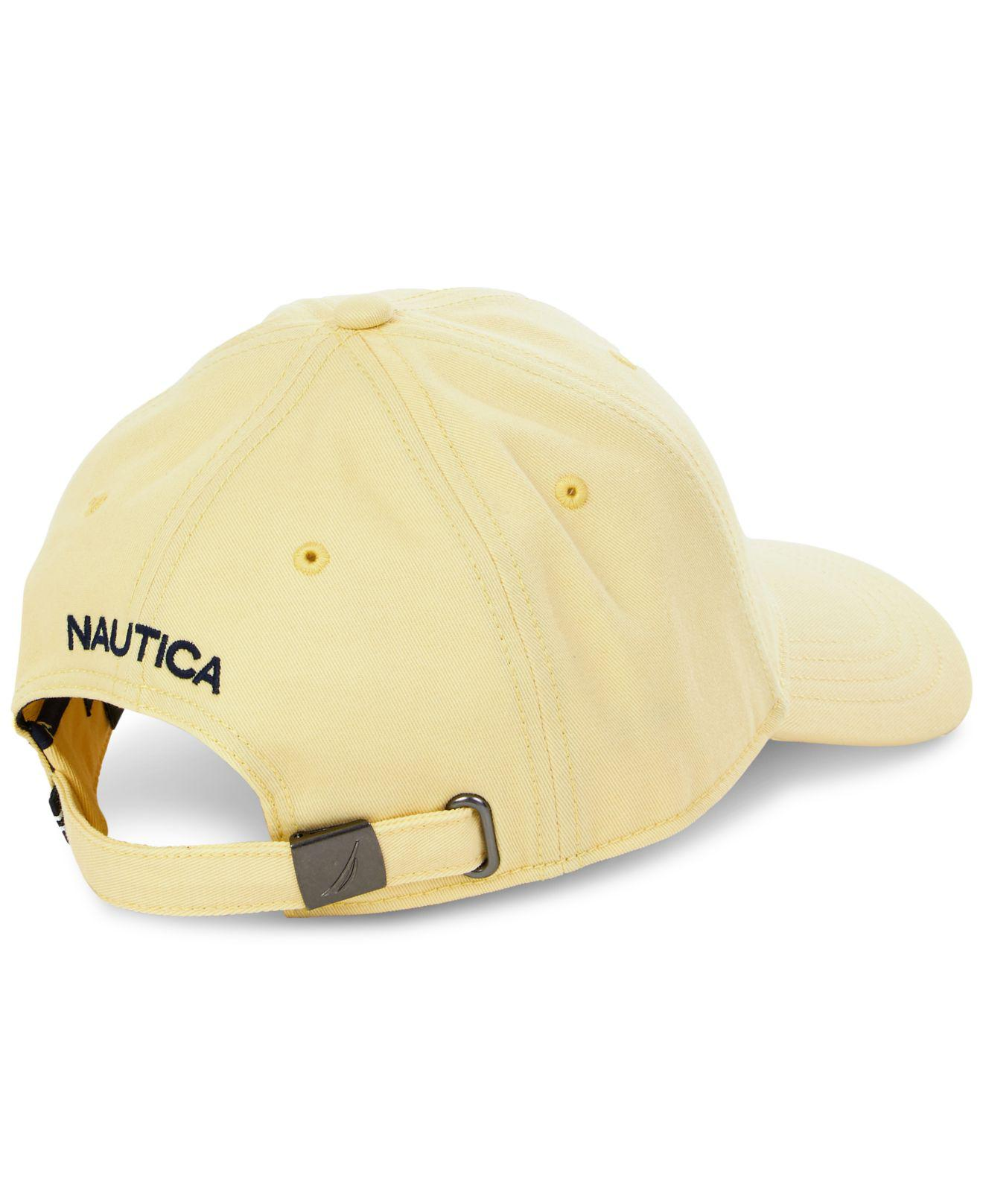 e9a55db775b Lyst - Nautica J Class Embroidered Hat in Yellow for Men