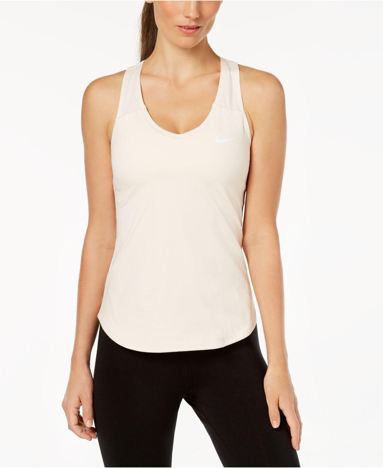 5438c476 Nike White Court Racerback Dri-fit Tennis Tank Top