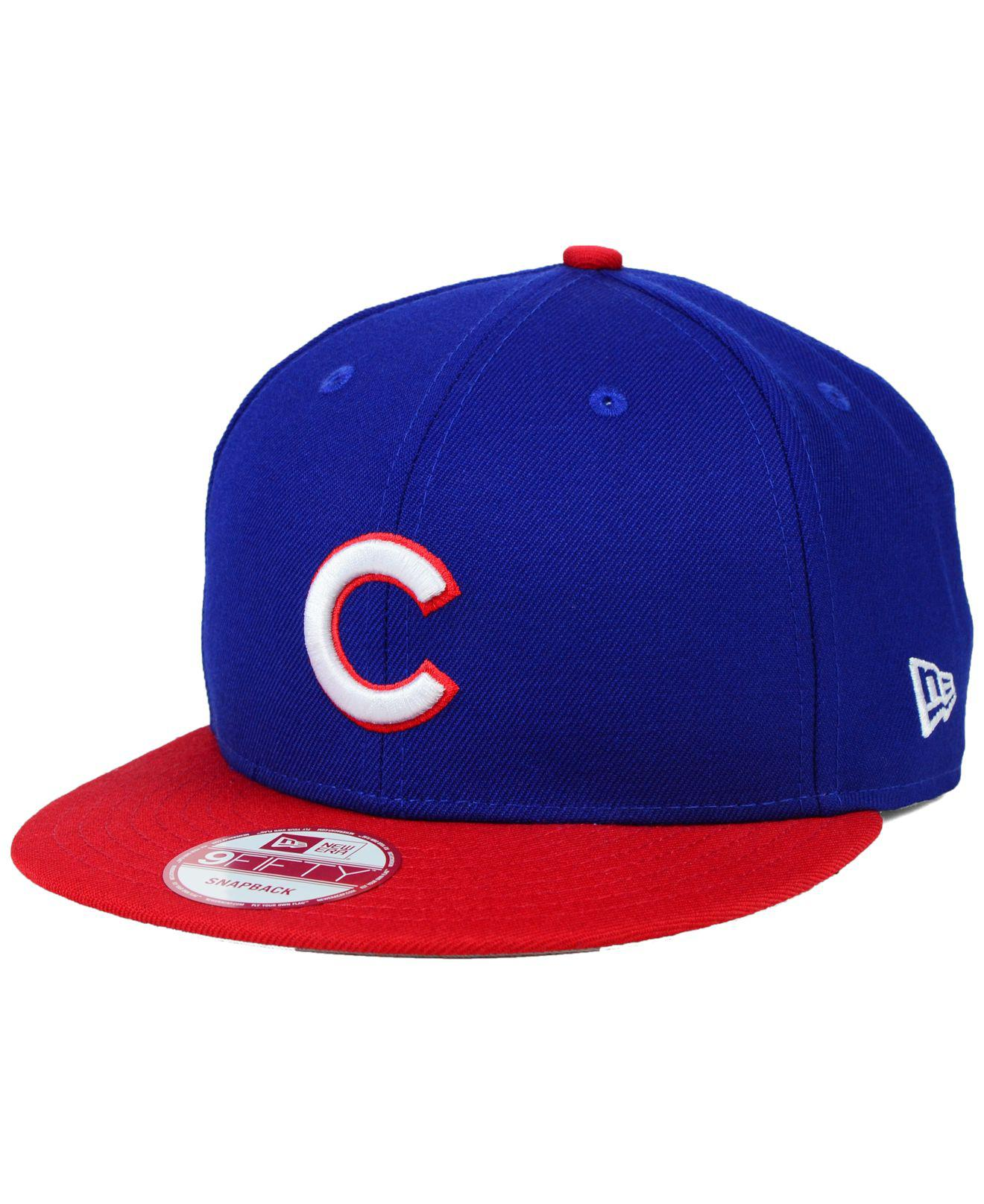 250682c1d4b Lyst - KTZ Chicago Cubs 2-tone Link 9fifty Snapback Cap in Blue for Men