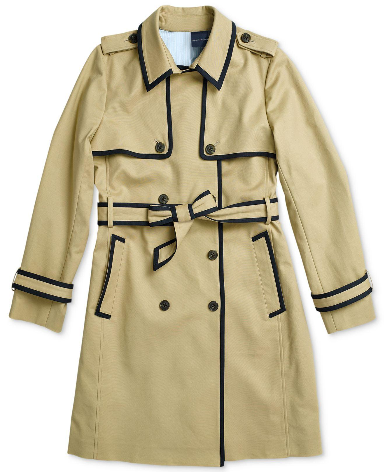 Coach Womens Sz 2 Black Wool Convertible Trench Coat