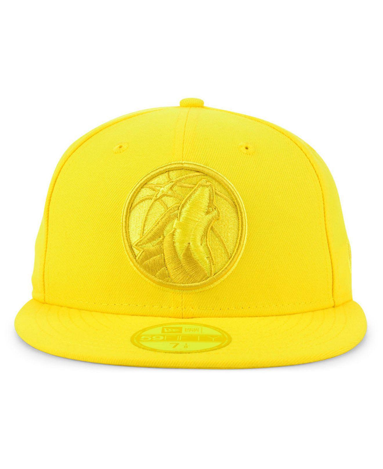 newest 2d8a7 17fce KTZ Minnesota Timberwolves Color Prism Pack 59fifty Fitted Cap in Yellow  for Men - Save 56% - Lyst