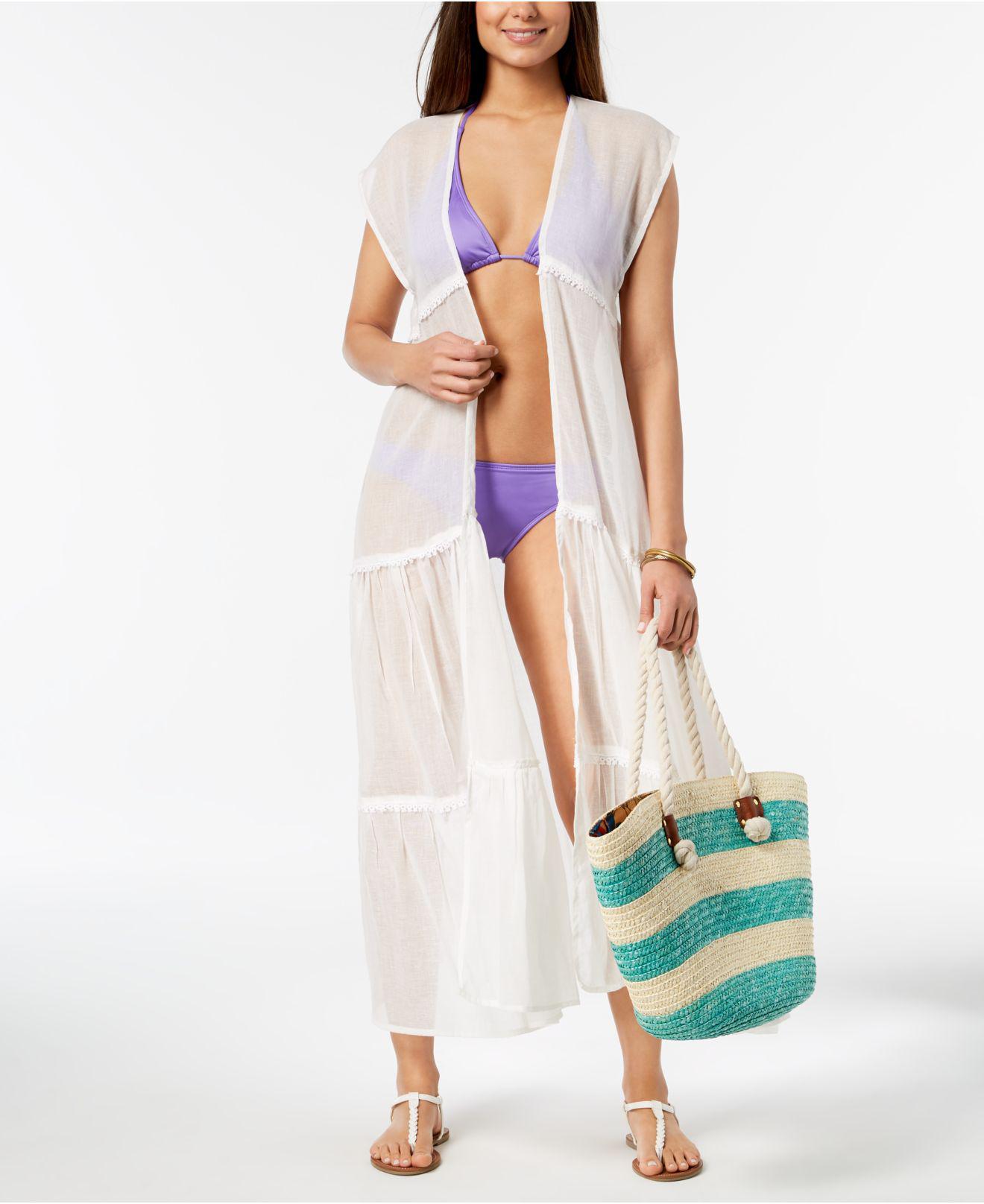 426295f7c7 Betsey Johnson Prairie Girl Cover-up & Kimono in White - Lyst