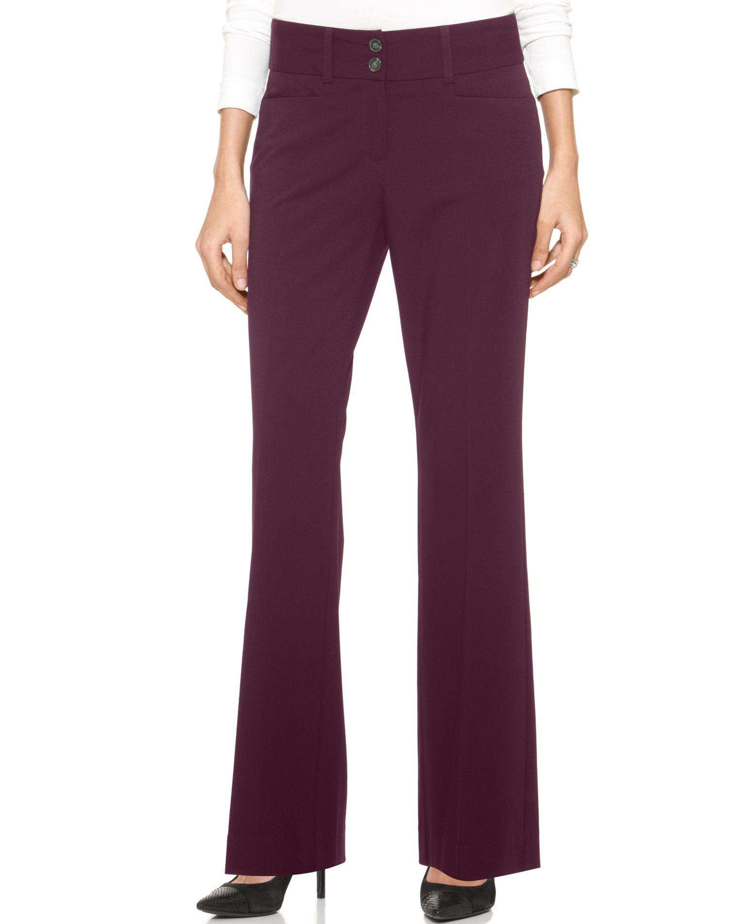 Alfani Two Button Curvy Fit Pants Only At Macy S In