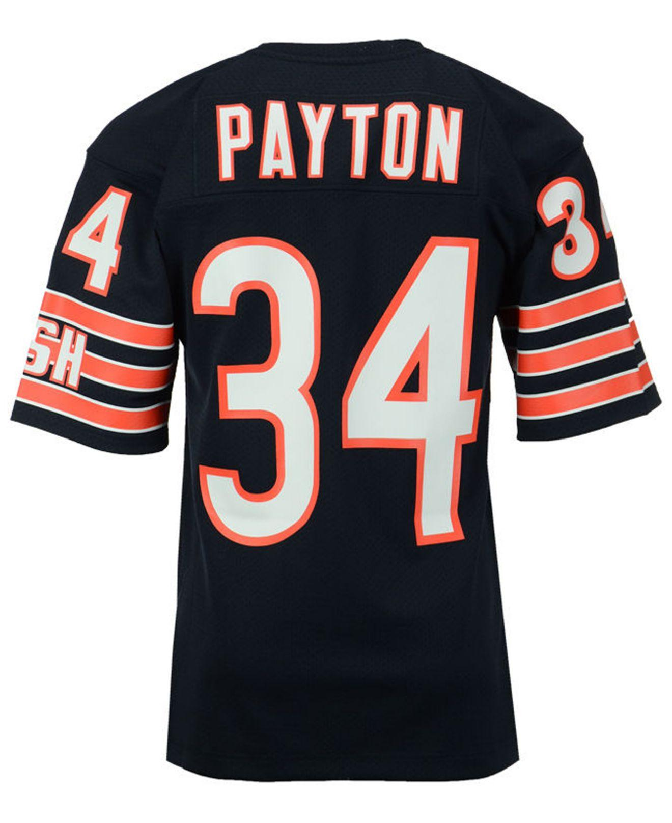 new product f3130 22d17 Men's Blue Walter Payton Chicago Bears Authentic Football Jersey