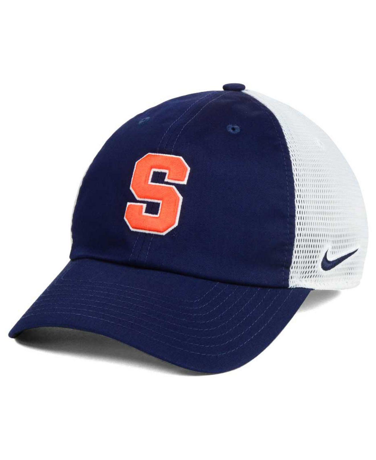 sale retailer b70e8 a7e27 Lyst - Nike Syracuse Orange H86 Trucker Cap in Blue for Men
