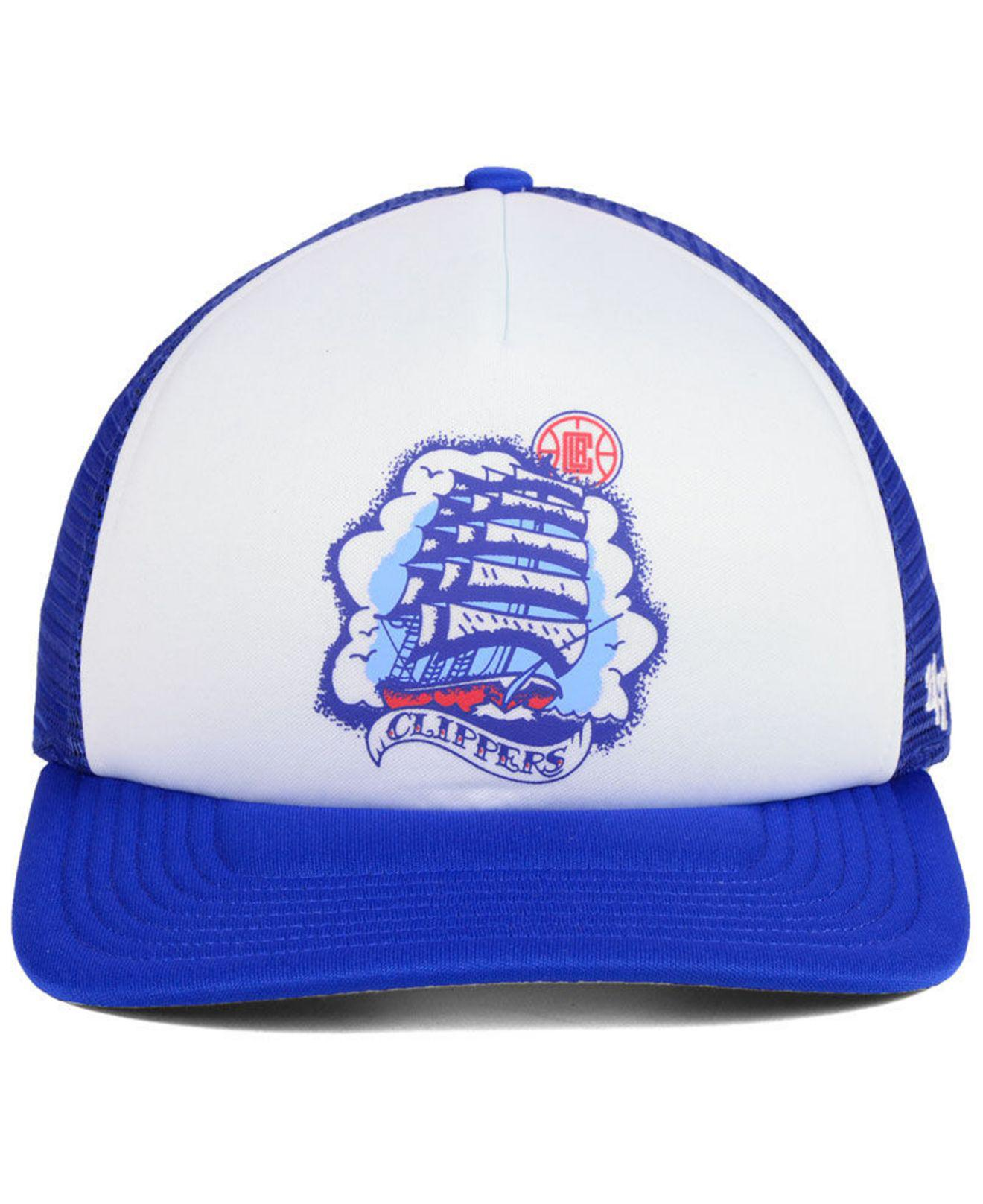 the best attitude ce18b c70a4 ... reduced lyst 47 brand los angeles clippers region mesh mvp cap in blue  for men f8b0c