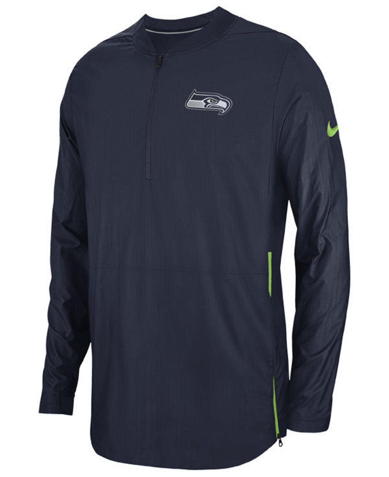 Lyst - Nike Seattle Seahawks Lockdown Jacket in Blue for Men 0e0a19727