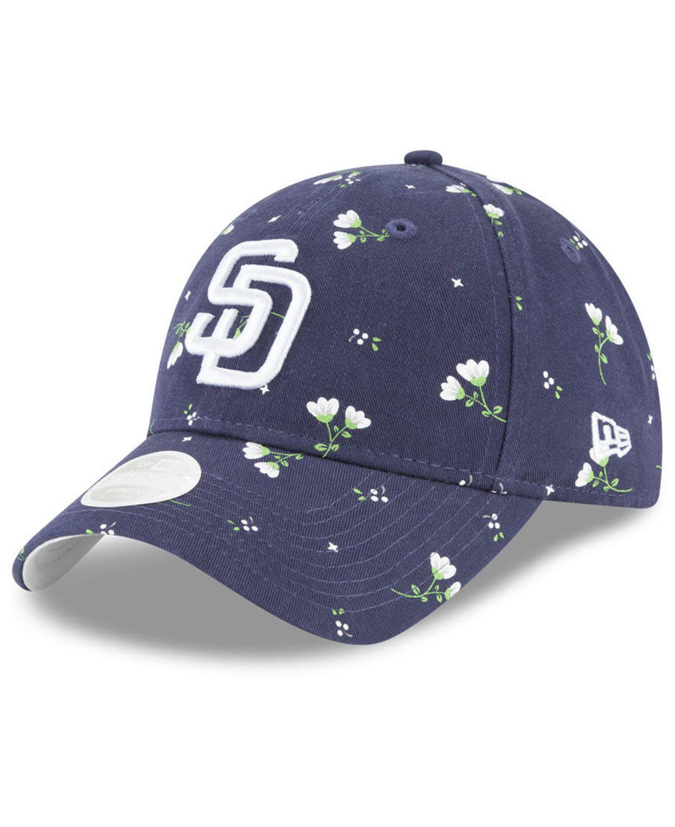 los angeles 8842a 9d566 ... reduced lyst ktz san diego padres blossom 9twenty strapback cap in blue  75053 80fe0