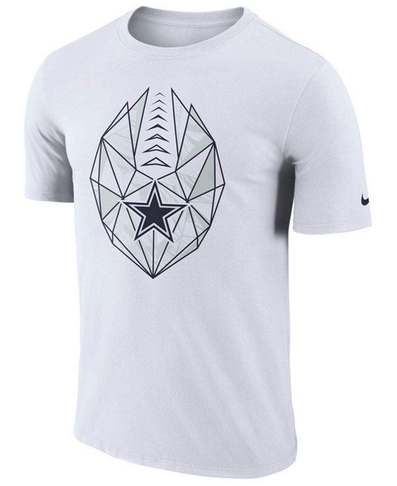 Lyst Nike Dallas Cowboys Icon T Shirt In White For Men