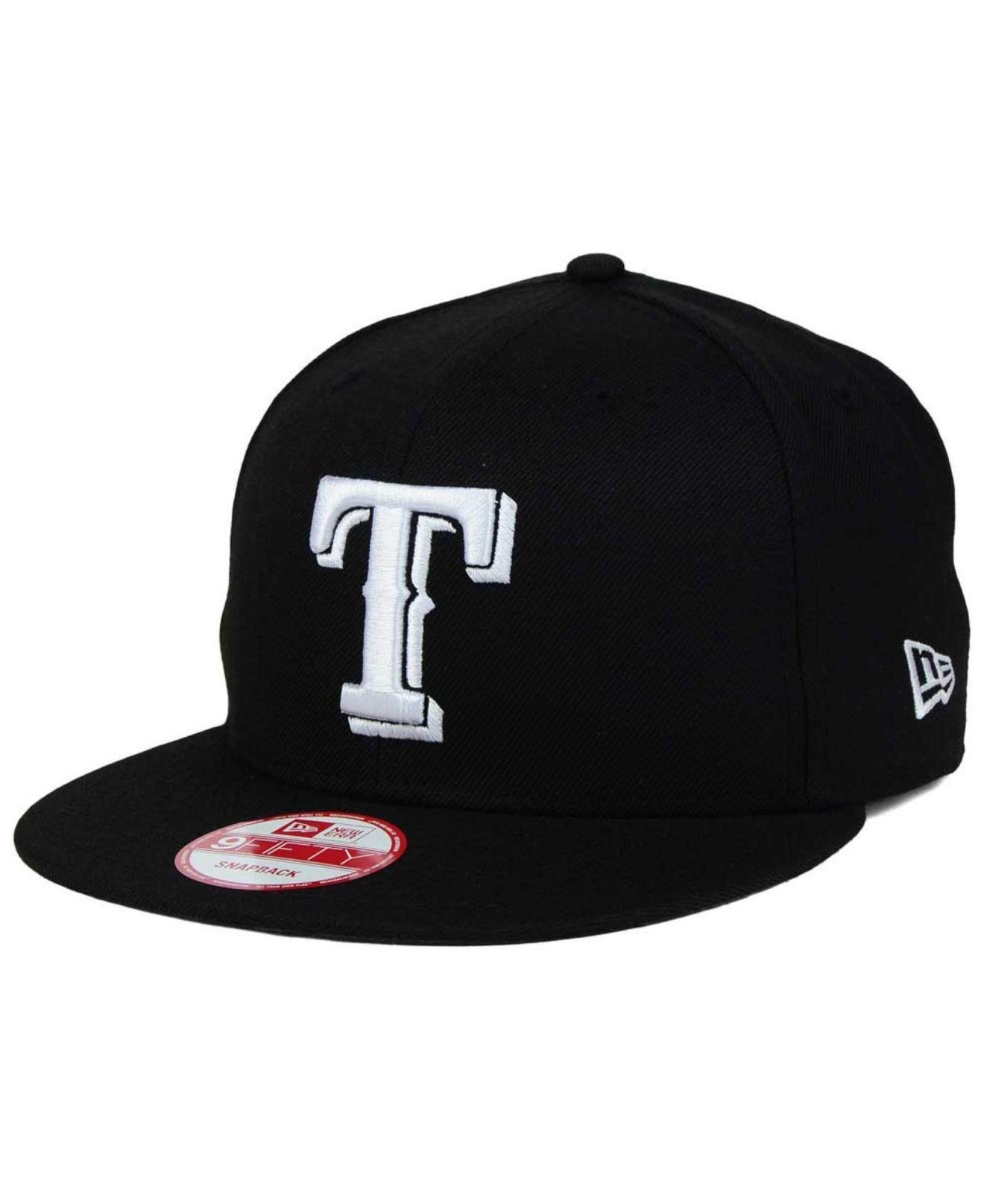 pretty nice 52861 2b029 KTZ - Black Texas Rangers B-dub 9fifty Snapback Cap for Men - Lyst. View  fullscreen