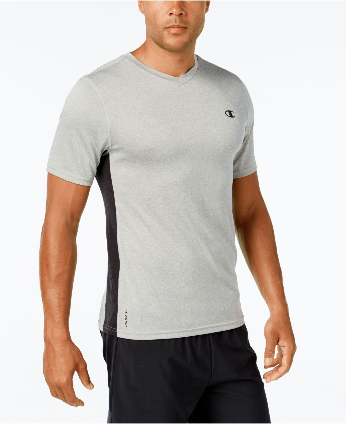 f5c03d7d Lyst - Champion Men's Vapor Heathered V-neck T-shirt in Gray for Men