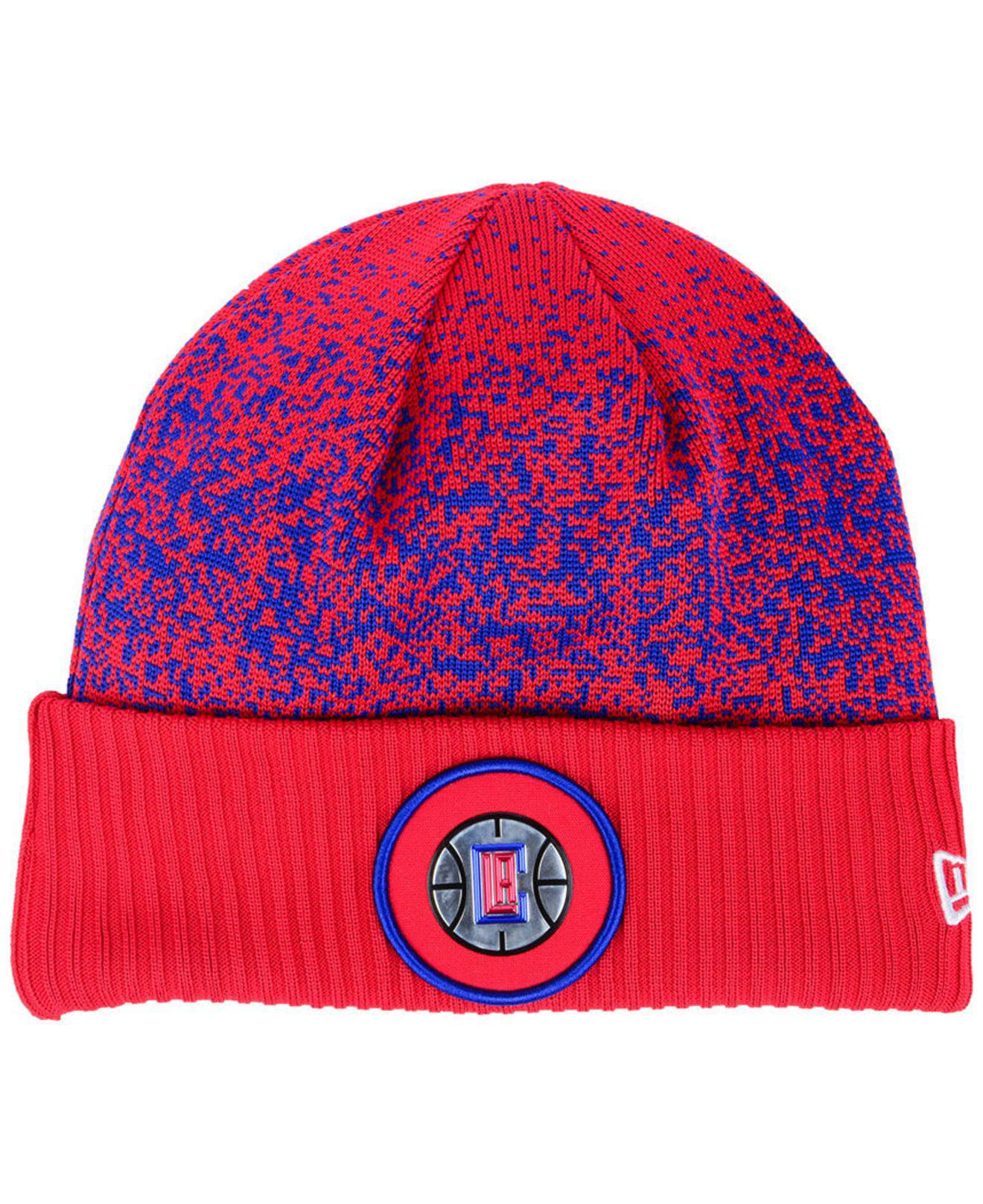122d3218dd8 Lyst - KTZ On Court Collection Cuff Knit Hat in Red for Men