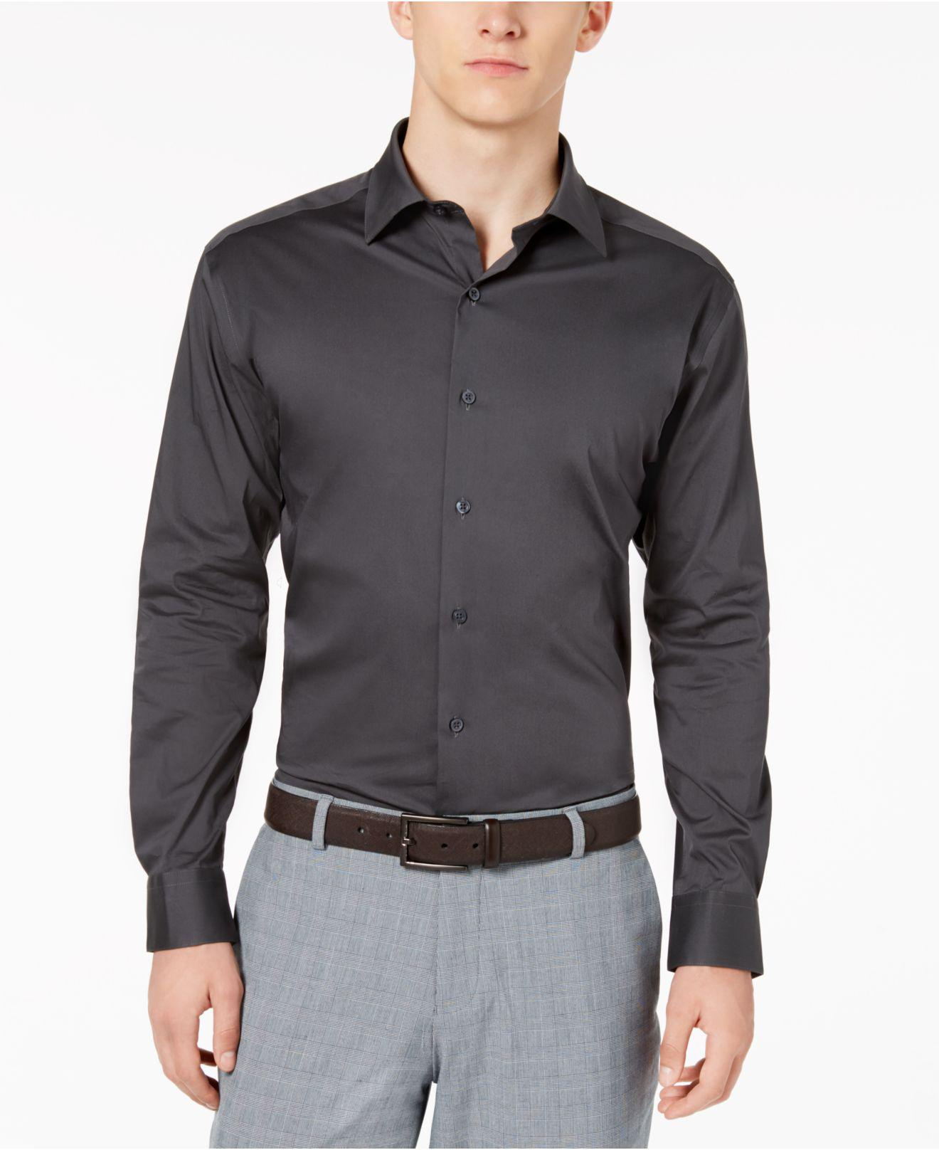 Lyst Alfani Solid Athletic Fit Dress Shirt Created For Macys In