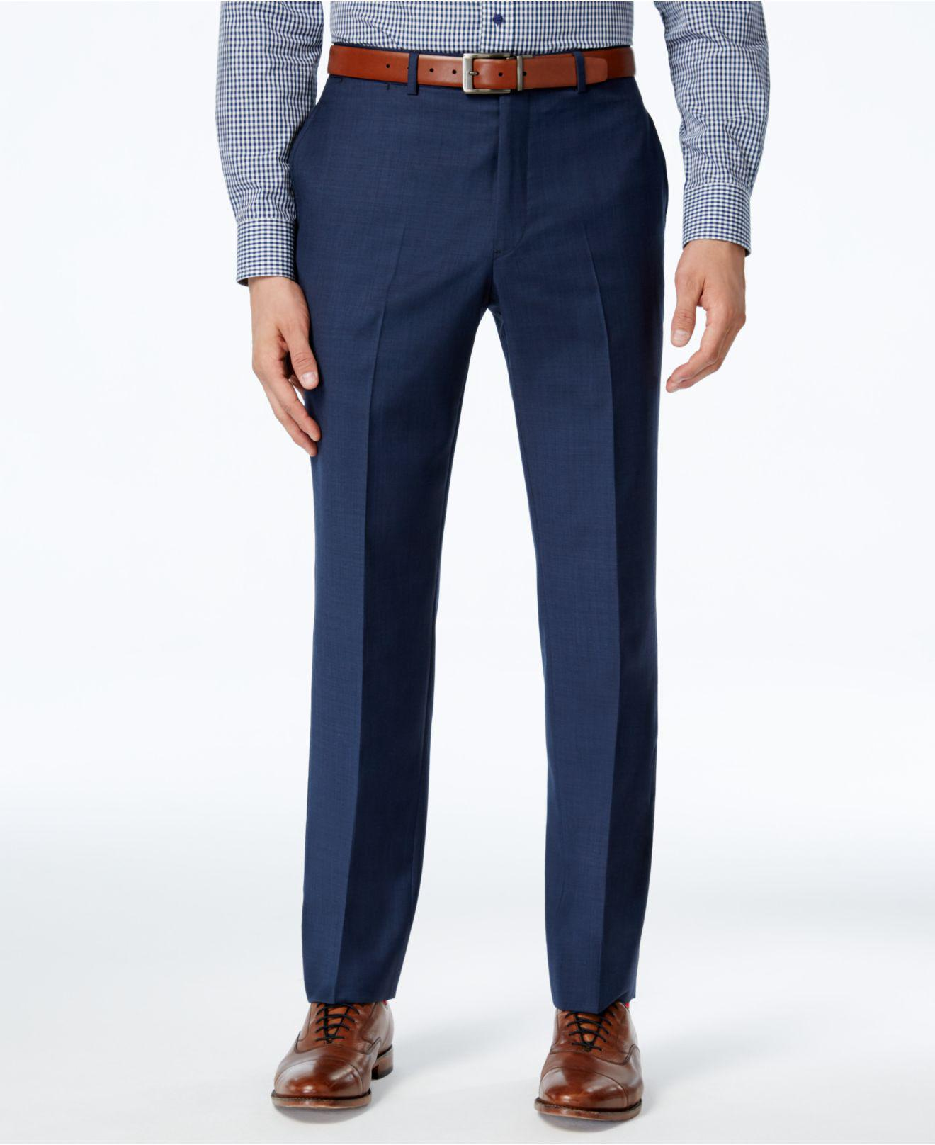 buying now excellent quality the best Pants, Navy Sharkskin Classic Fit