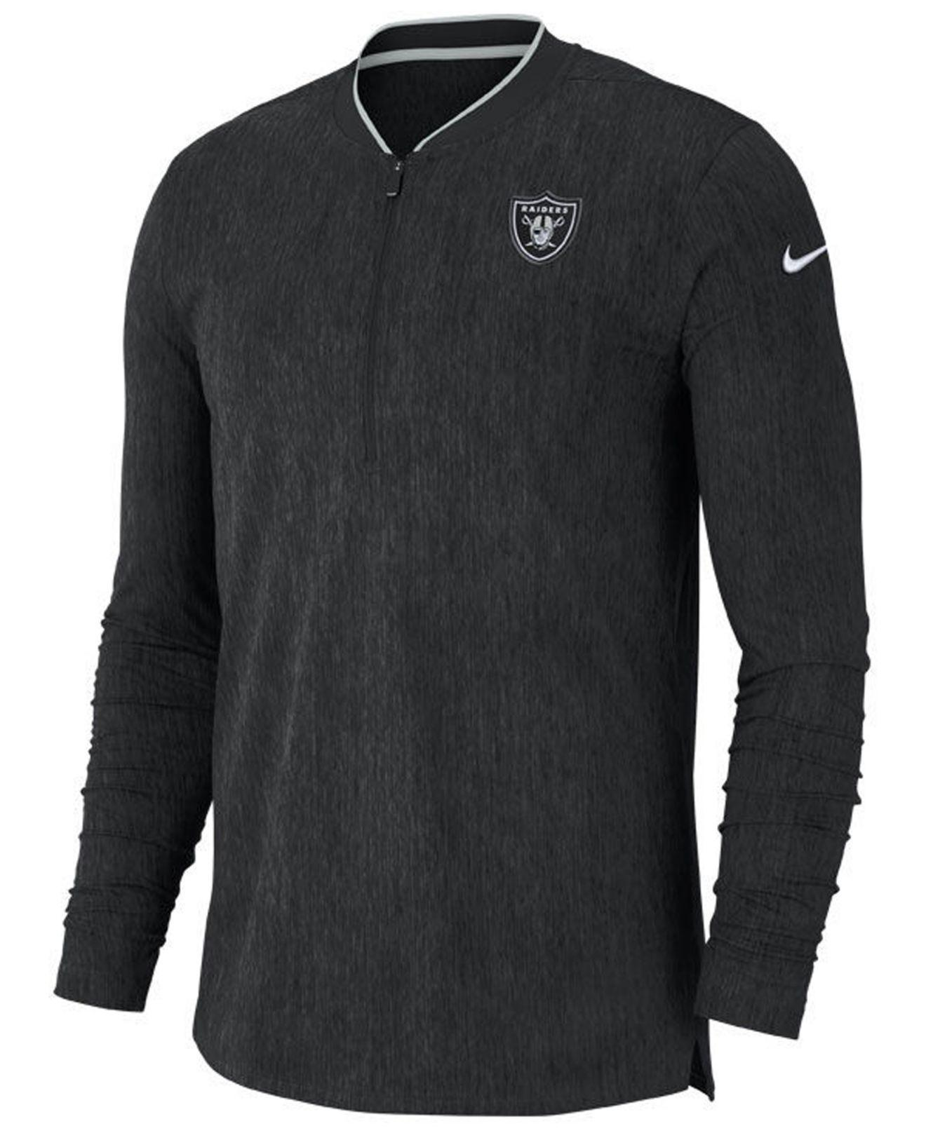 Lyst - Nike Oakland Raiders Coaches Quarter-zip Pullover in Black ... 689440700