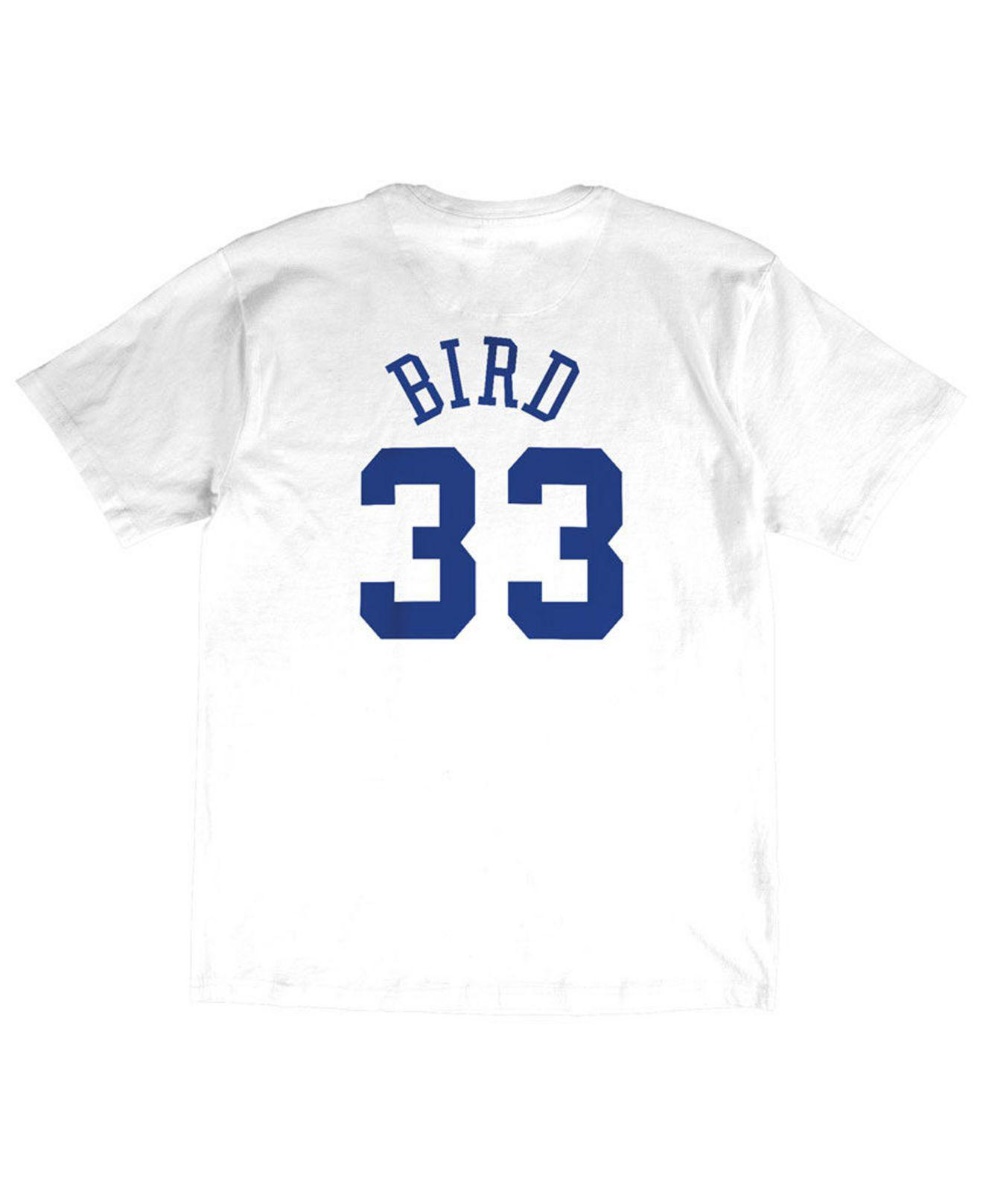 outlet store 4d213 c85f1 Men's White Larry Bird Nba All Star 1990 Name & Number Traditional T-shirt