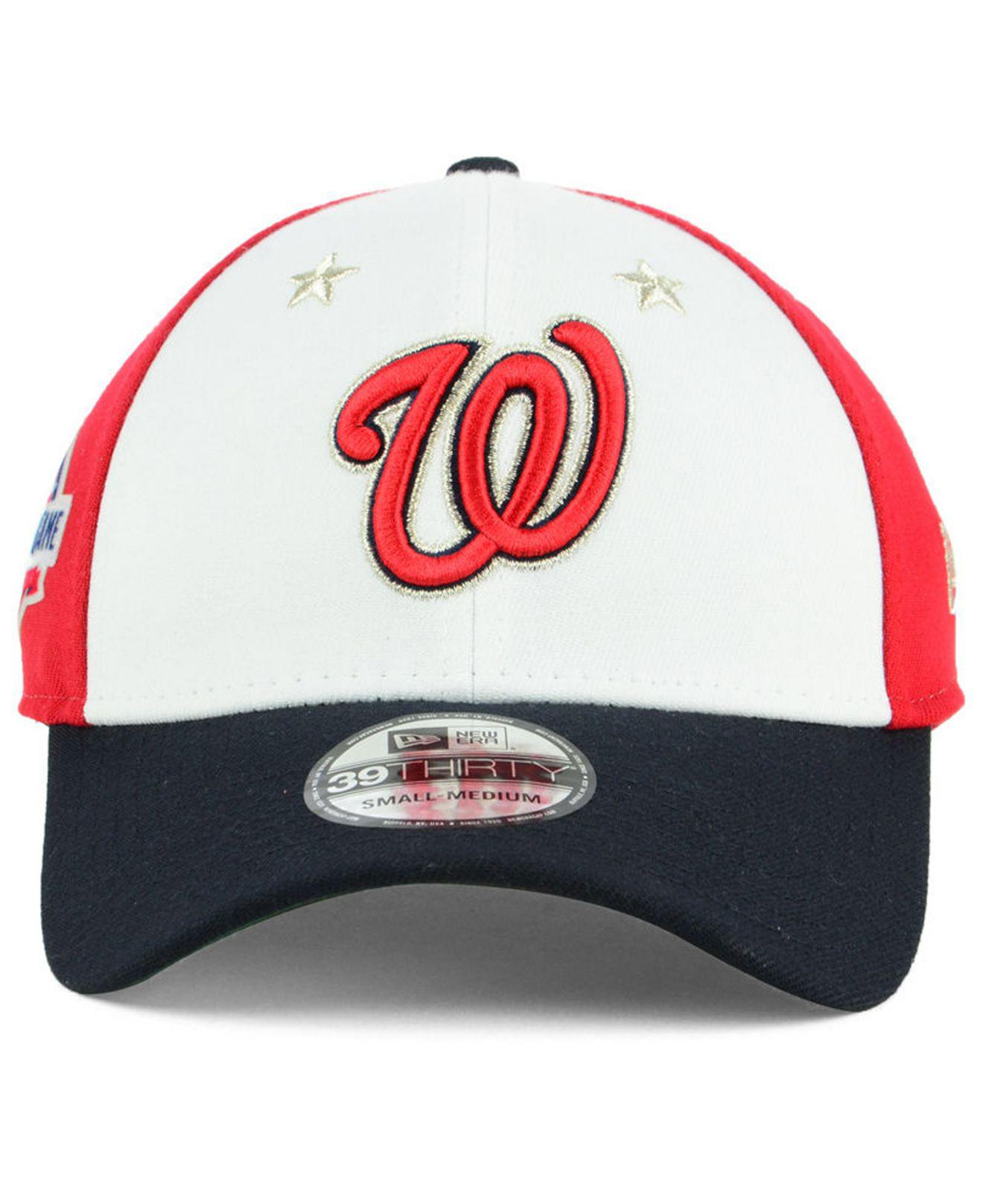 the best attitude 315b4 490f4 Lyst - KTZ Washington Nationals All Star Game 39thirty Stretch Fitted Cap  2018 in Red for Men