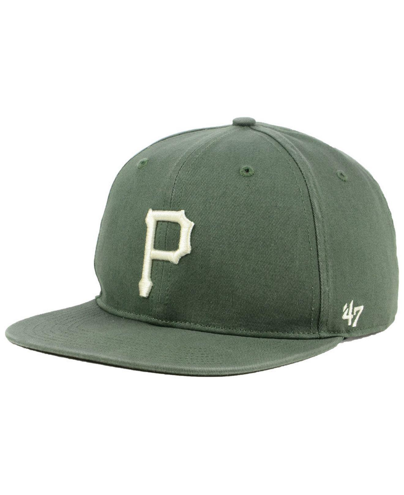 1cd83814846 Lyst - 47 Brand Pittsburgh Pirates Moss Snapback Cap in Green for Men