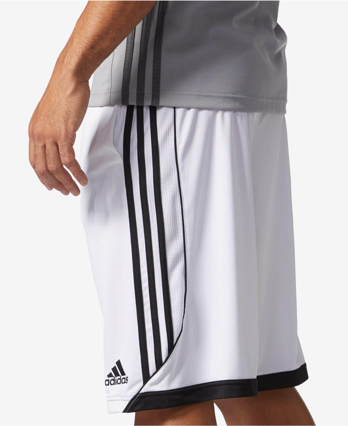 610e88aa0 Adidas - White Climalite® 3g Speed Basketball Shorts for Men - Lyst. View  fullscreen