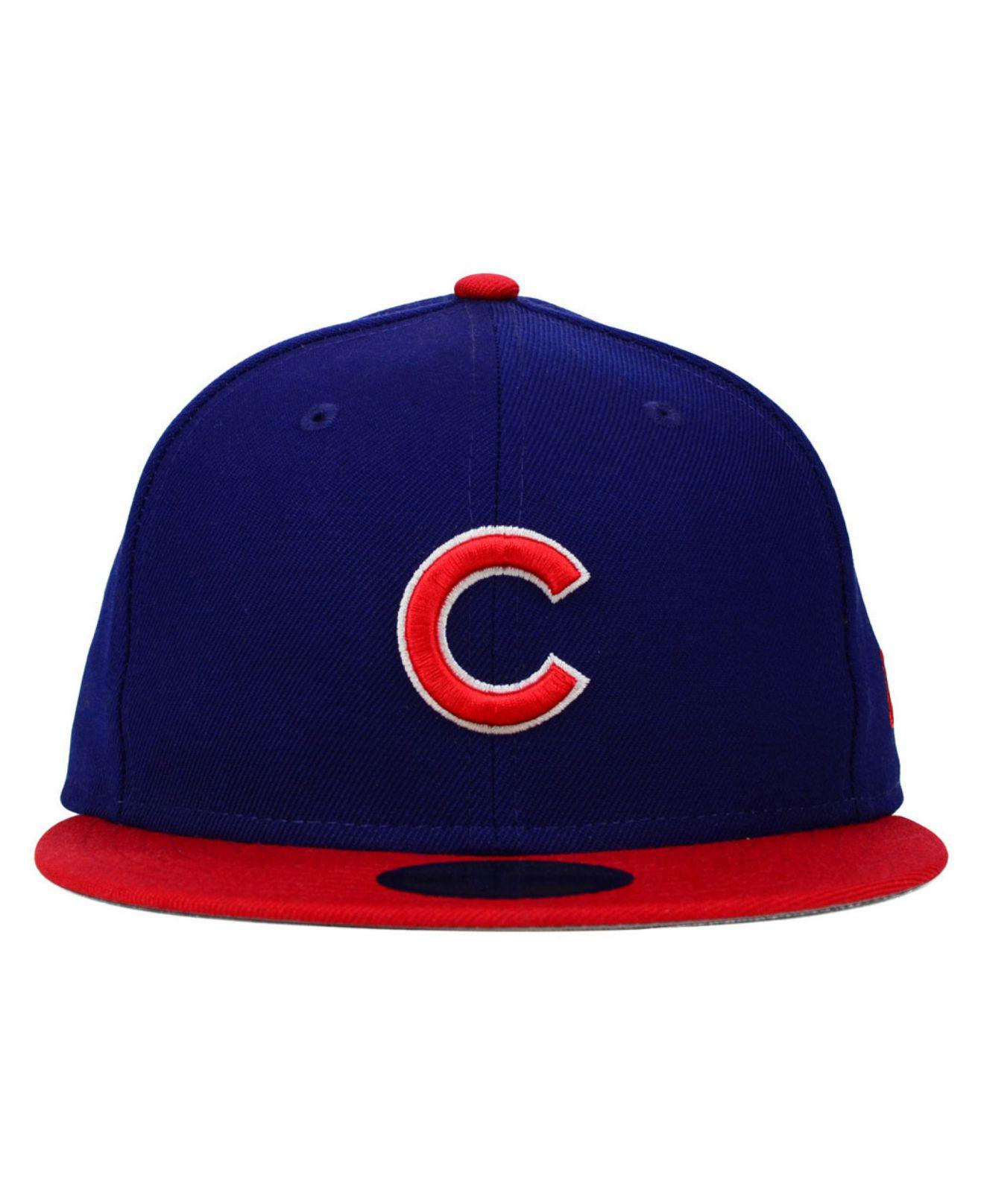 d7597f0f2f8 Lyst - KTZ Chicago Cubs Mlb Cooperstown 59fifty Cap in Red for Men
