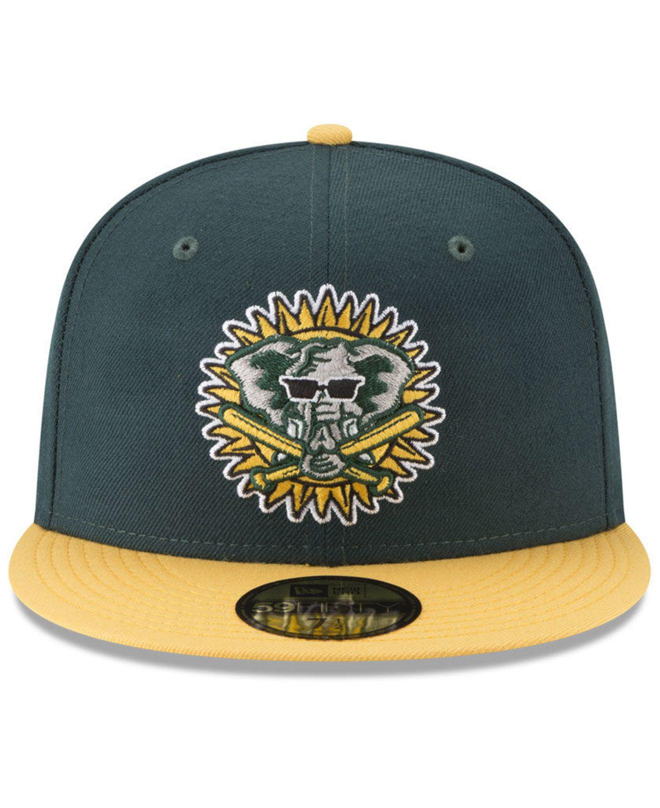 ac74ef2a7fe Lyst - Ktz Oakland Athletics Batting Practice Wool Flip 59fifty Fitted Cap  in Green for Men