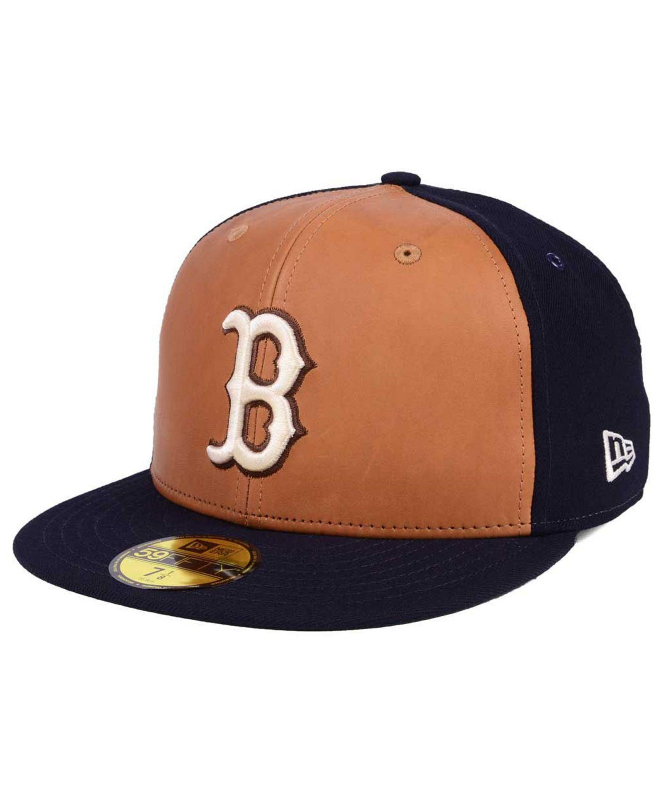 huge inventory amazing selection new arrivals KTZ Boston Red Sox X Wilson Leather Front 59fifty Fitted Cap in ...