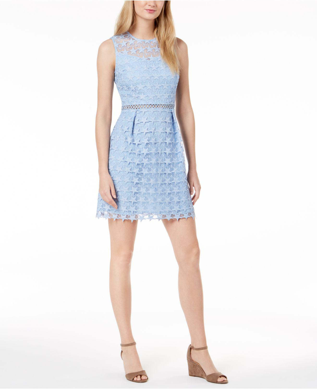 6ca9c504 Maison Jules Star-pattern Lace Fit & Flare Dress, Created For Macy's ...