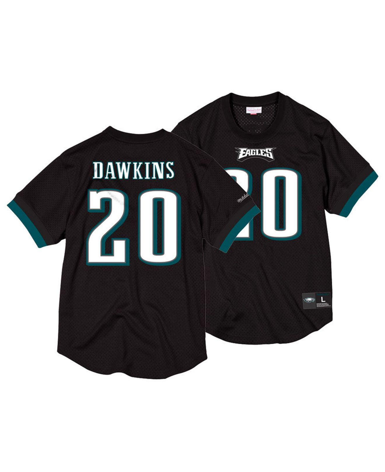 reputable site 4bf88 a0c7b Men's Black Brian Dawkins Philadelphia Eagles Mesh Name And Number Crewneck  Jersey